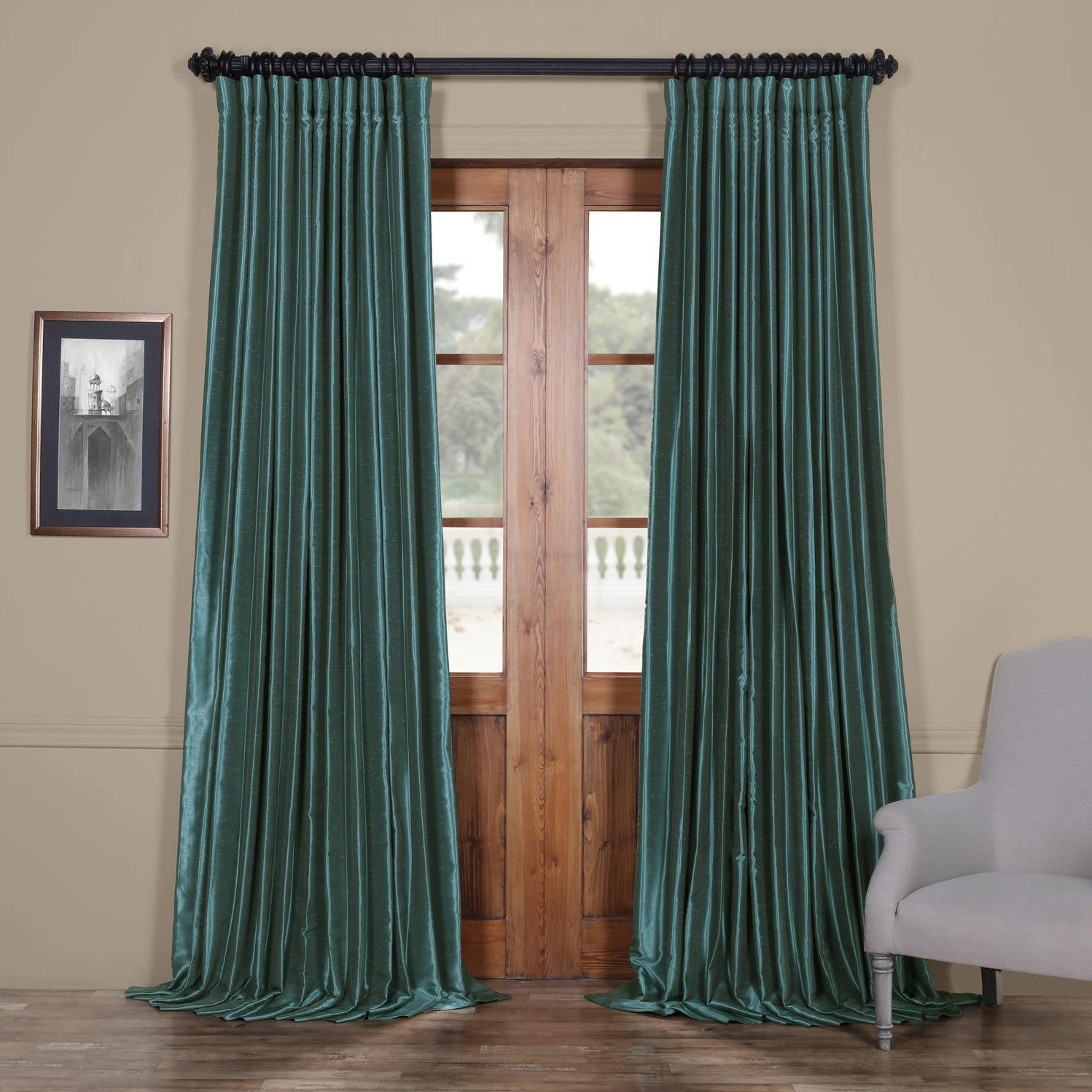 Faux Silk Extra Wide Blackout Single Curtain Panels With 2021 Exclusive Fabrics Faux Silk Extra Wide Blackout Single Curtain Panel (View 2 of 20)