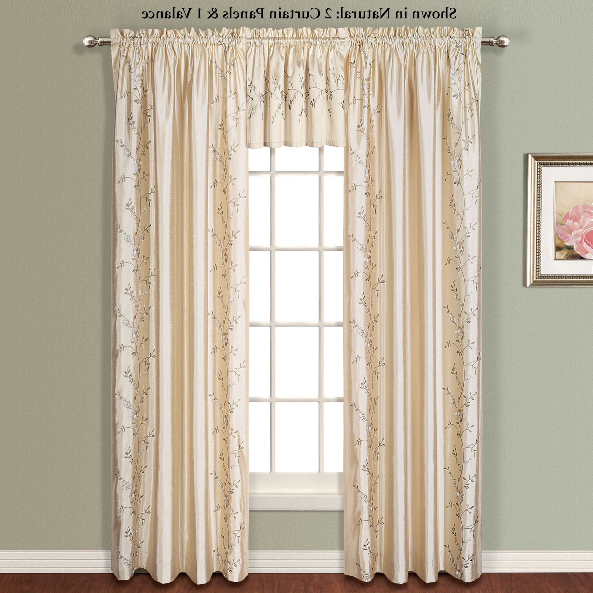 Favorite Addison Embroidered Floral Faux Silk Window Treatment For Ofloral Embroidered Faux Silk Window Curtain Panels (View 7 of 20)