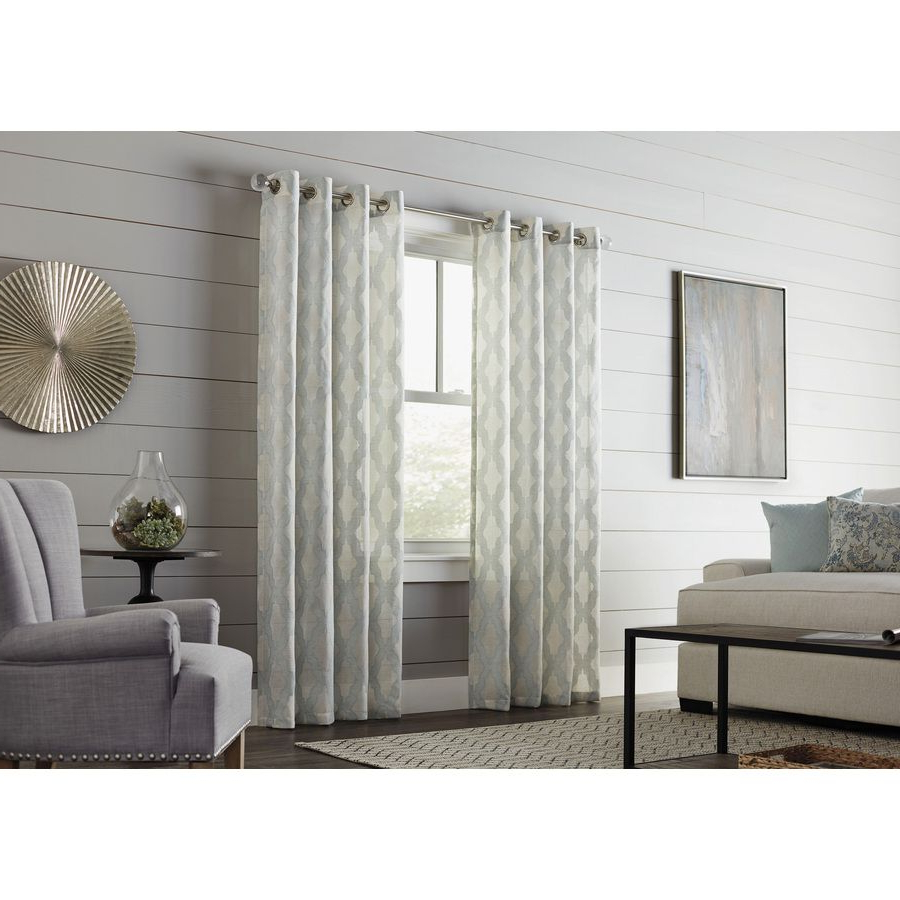 Favorite Allen + Roth Breesport 84 In Mineral Polyester Grommet Light In Light Filtering Sheer Single Curtain Panels (View 13 of 20)