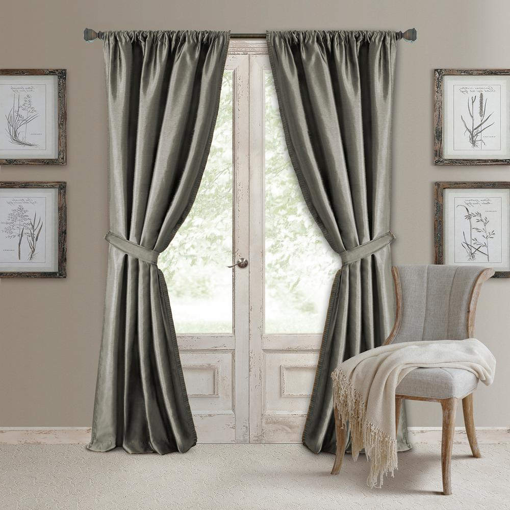 Favorite Bethany Sheer Overlay Blackout Window Curtains Pertaining To Elrene Versailles Faux Silk Blackout Window Curtain (View 8 of 20)