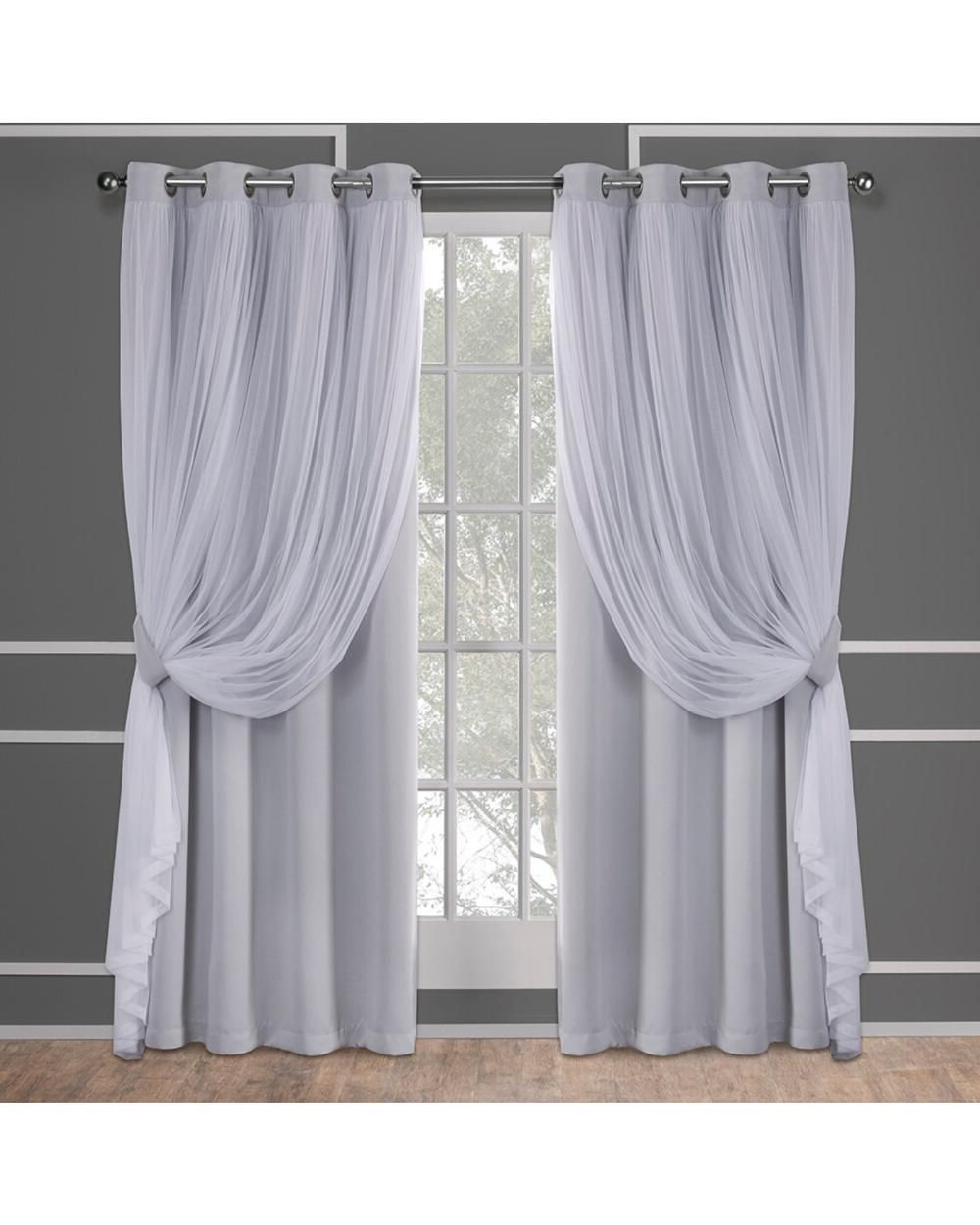 Favorite Catarina Layered Curtain Panel Pairs With Grommet Top For Exclusive Home Catarina Layered Solid Blackout And Sheer (View 12 of 20)