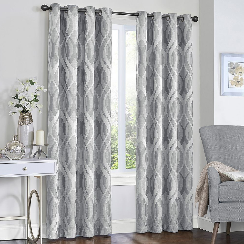Favorite Eclipse Caprese Blackout Window Curtains, Grey, 52X84 In For Eclipse Caprese Thermalayer Blackout Window Curtains (Gallery 8 of 20)