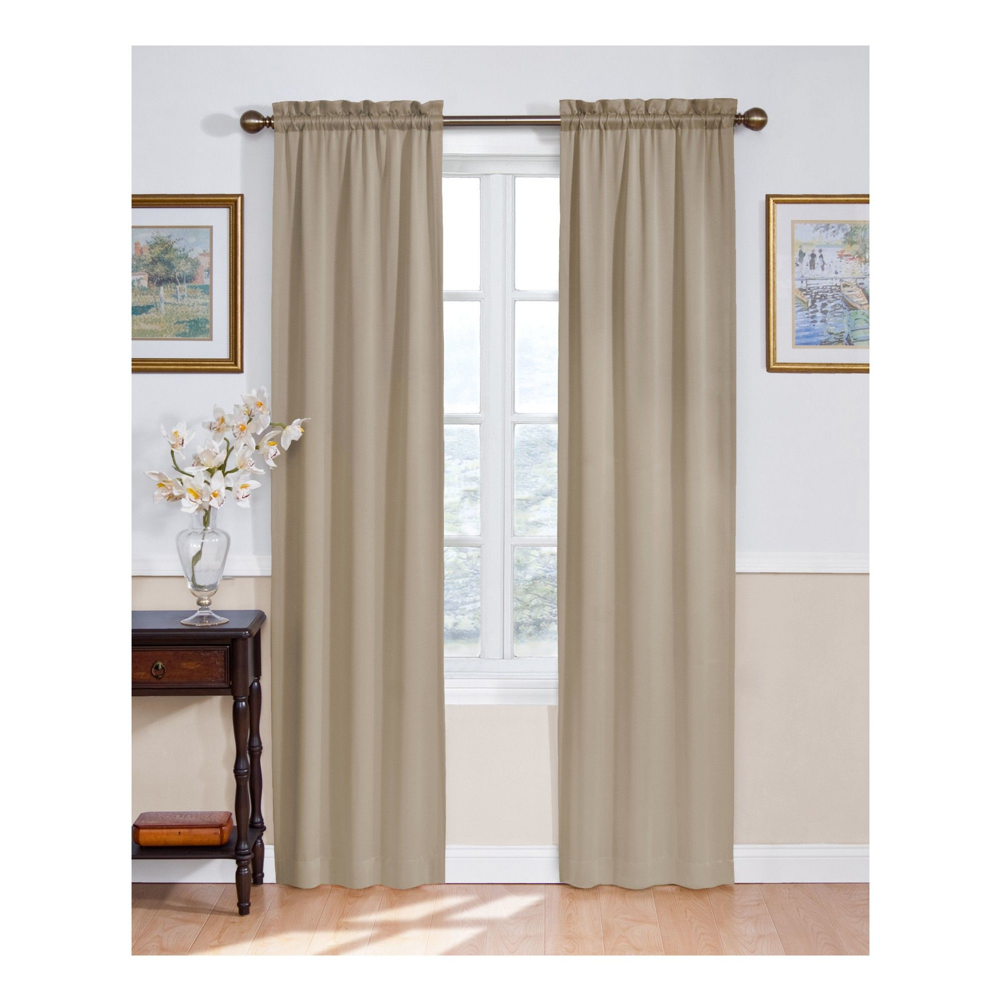Favorite Eclipse Solid Thermapanel Room Darkening Single Panel Pertaining To Solid Thermapanel Room Darkening Curtain Taupe (Brown) 54X63 (Gallery 18 of 20)