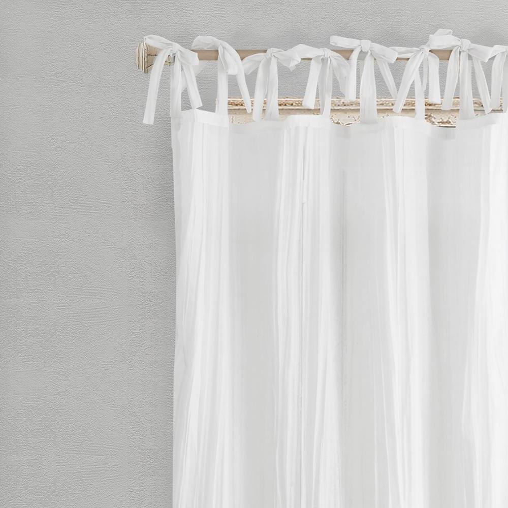 Favorite Elrene Jolie Tie Top Curtain Panels Inside Elrene Jolie Semi Sheer Tab Top Window Curtain (Gallery 3 of 20)