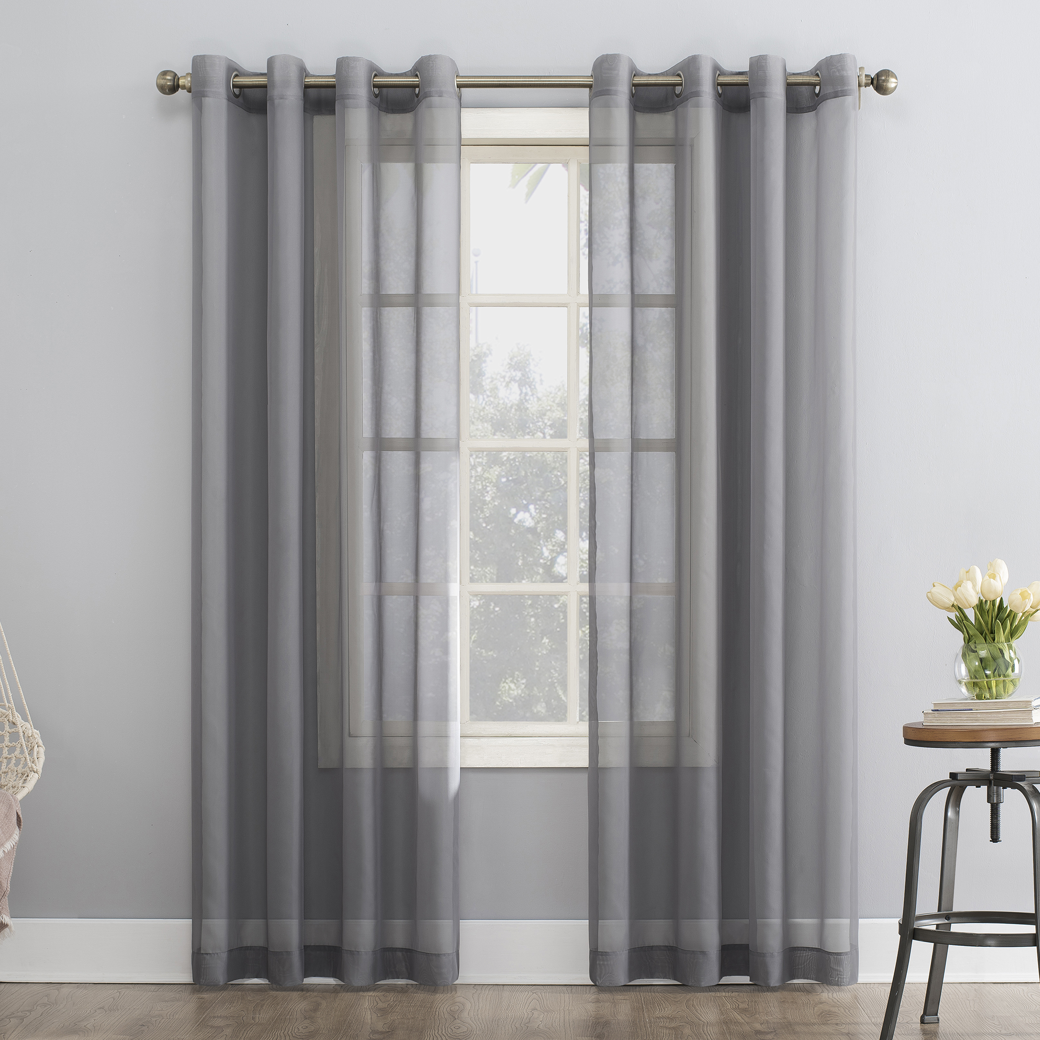 Favorite Emily Sheer Voile Grommet Curtain Panels Intended For No (View 10 of 20)