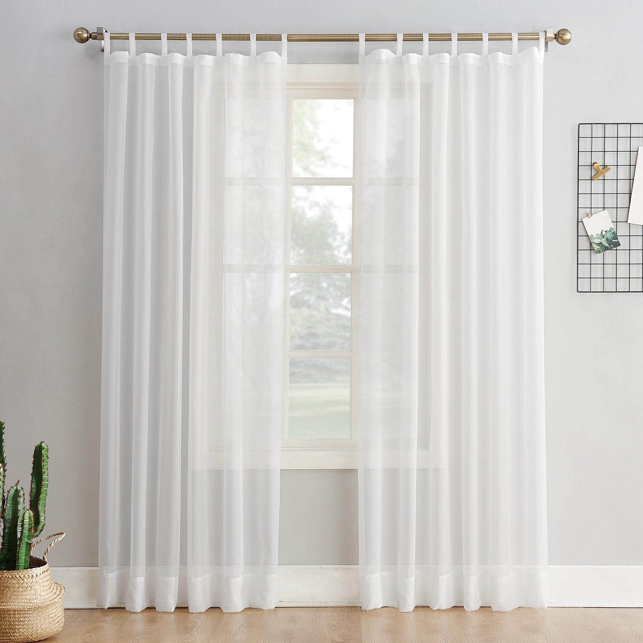 Favorite Emily Sheer Voile Single Curtain Panels Regarding No (View 9 of 20)