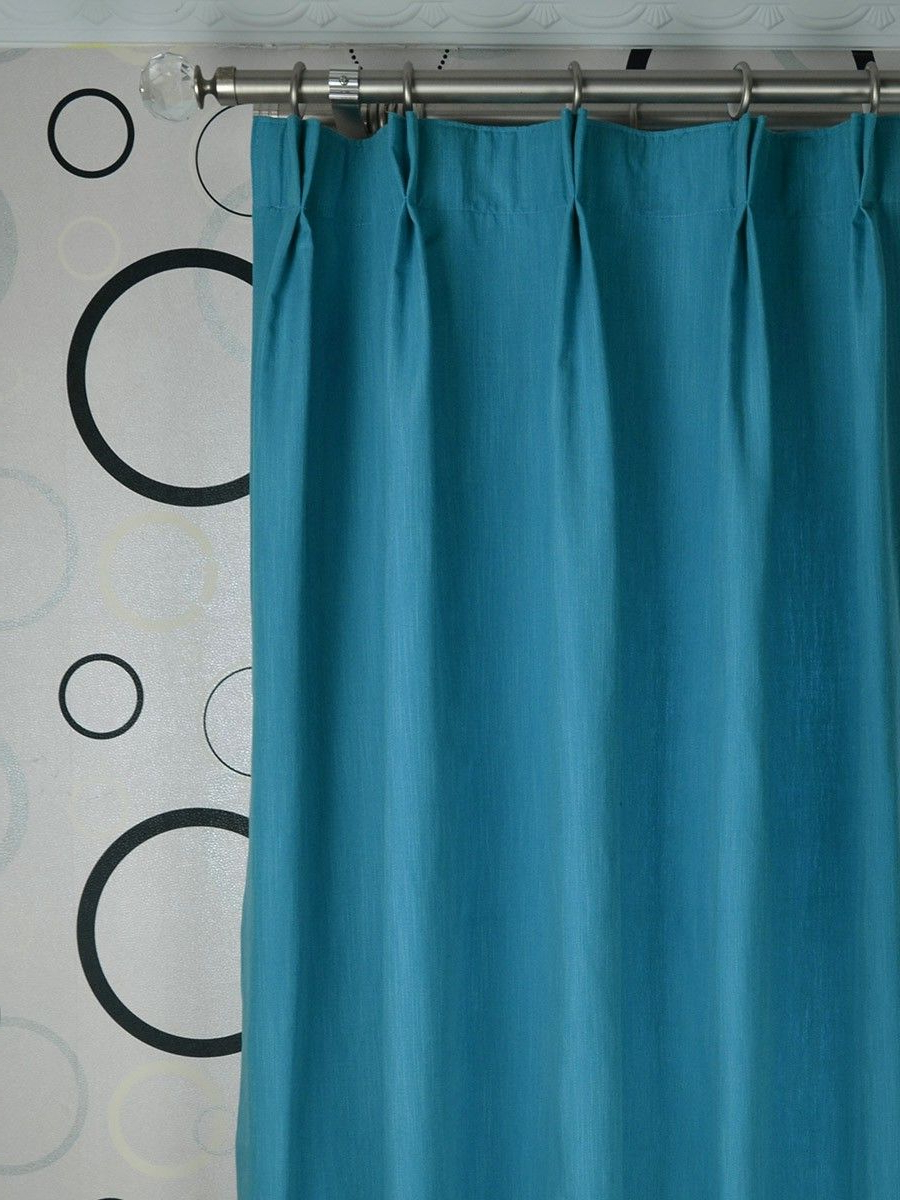 Favorite Extra Wide Hudson Solid Double Pinch Pleat Curtains 100 Inch With Regard To Solid Cotton Pleated Curtains (Gallery 8 of 20)