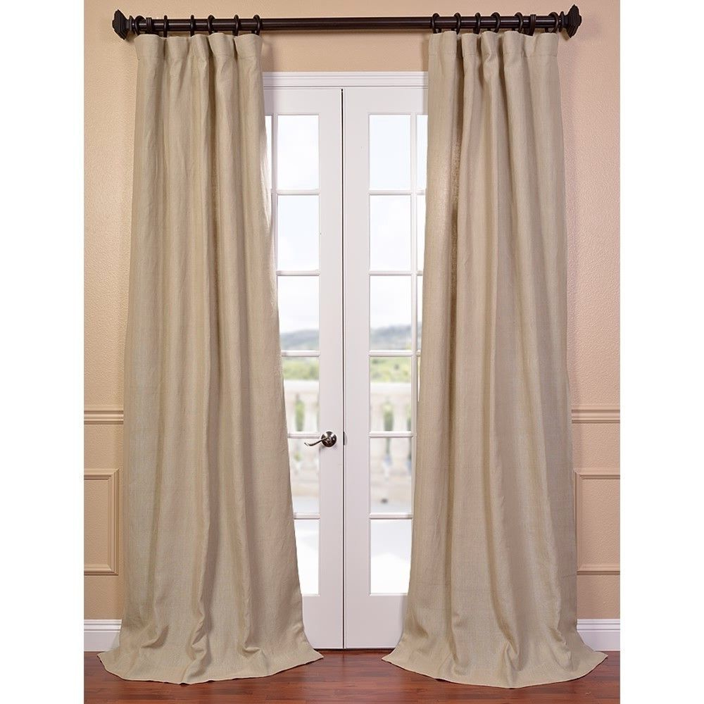 Favorite French Linen Lined Curtain Panels Within Natural French Linen Lined Curtain Panel – Overstock (Gallery 17 of 20)