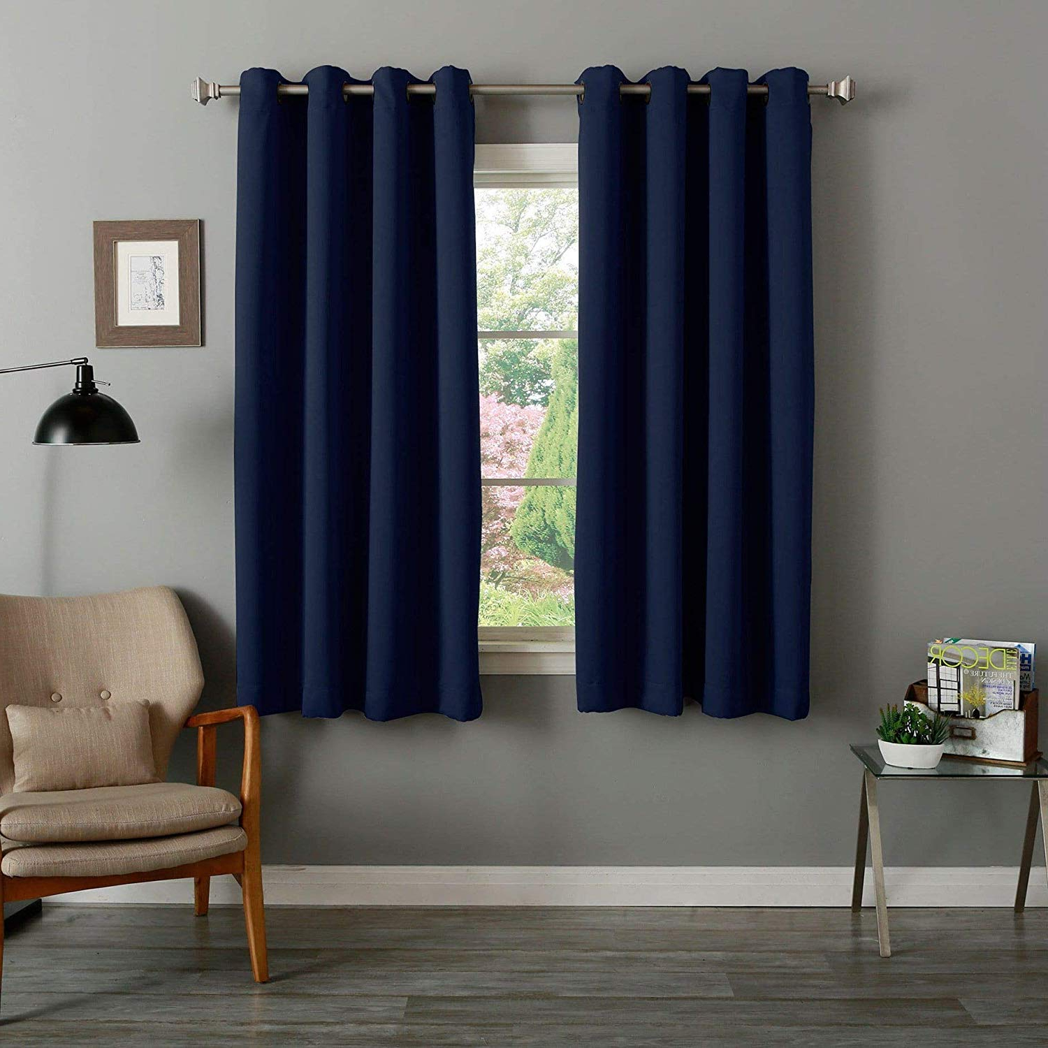 Favorite Grommet Top Thermal Insulated Blackout Curtain Panel Pairs For Amazon: 4 Piece Grommet Top Thermal Insulated Blackout (View 17 of 20)