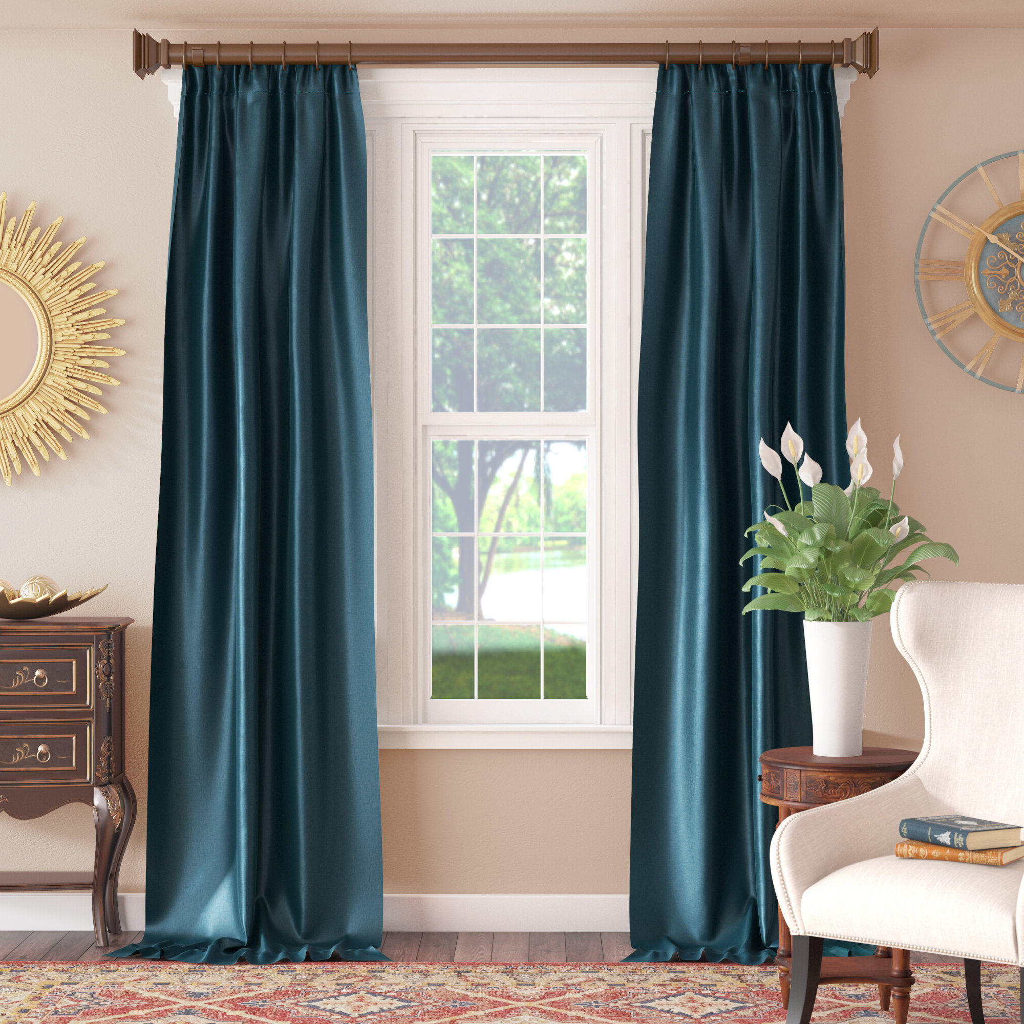 Favorite Lochleven Faux Silk Taffeta Solid Room Polyester Darkening Single Curtain  Panel Inside Solid Faux Silk Taffeta Graphite Single Curtain Panels (Gallery 17 of 20)