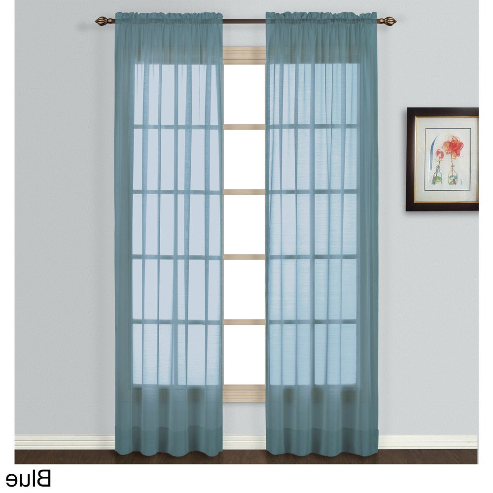 Favorite Luxury Collection Batiste Semi Sheer Single Curtain Panel Throughout Luxury Collection Summit Sheer Curtain Panel Pairs (View 4 of 20)