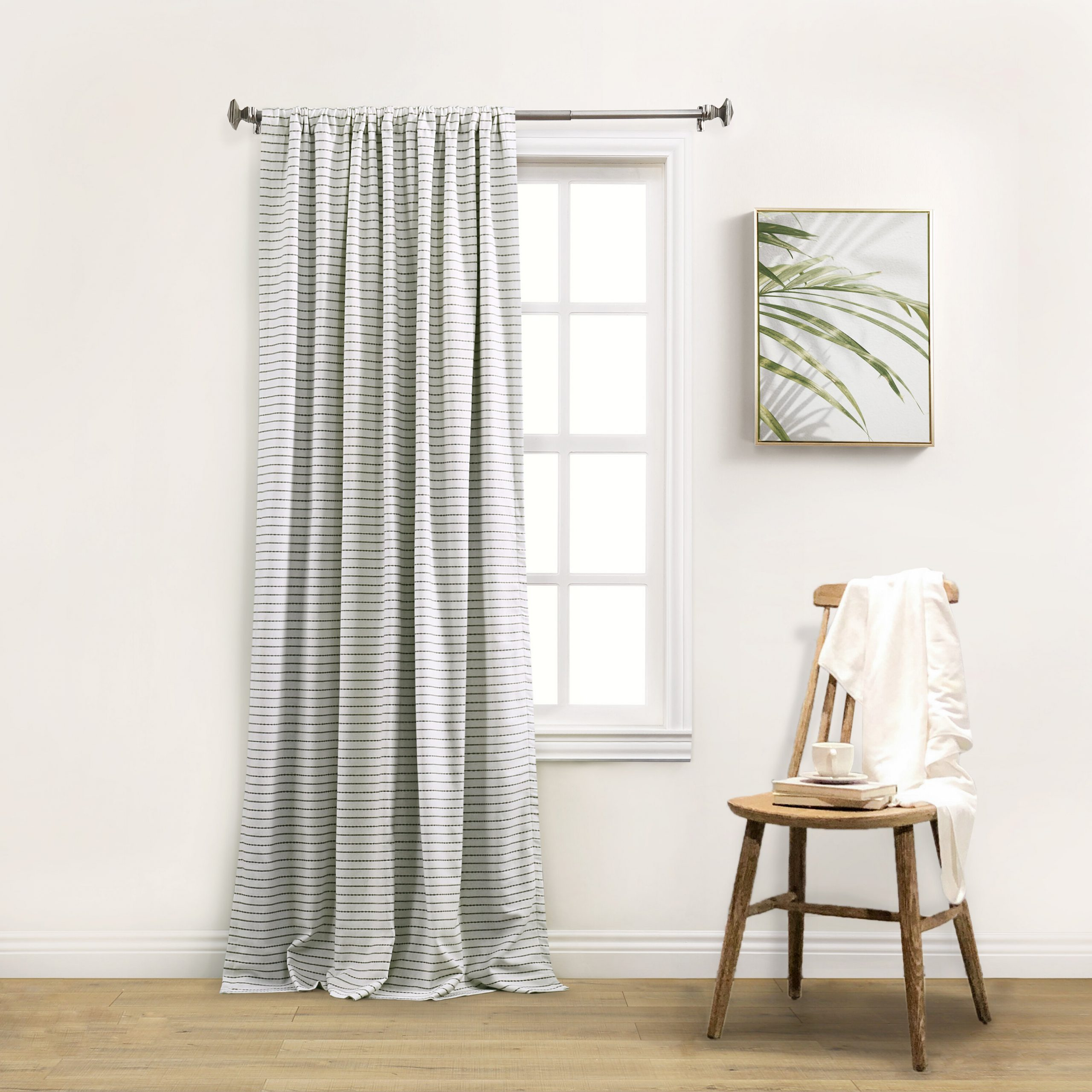 Favorite Ombre Stripe Yarn Dyed Cotton Window Curtain Panel Pairs Throughout Gadd Striped Blackout Thermal Rod Pocket Single Curtain Panel (Gallery 18 of 20)