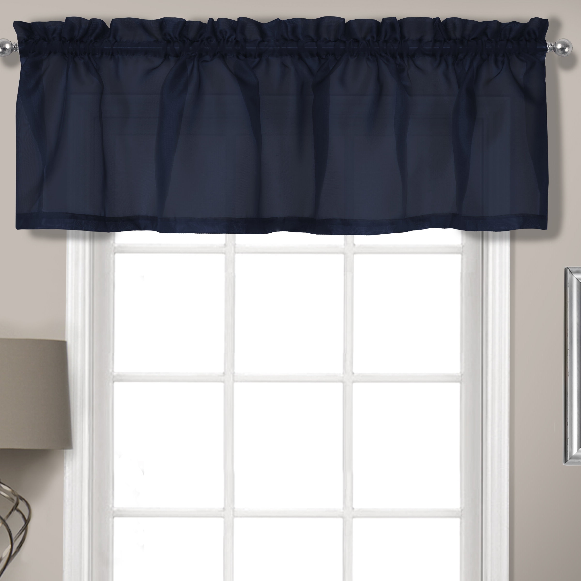"Favorite Rutherford Sheer Voile Straight Topper 56"" Window Valance Pertaining To Sheer Voile Waterfall Ruffled Tier Single Curtain Panels (View 5 of 20)"