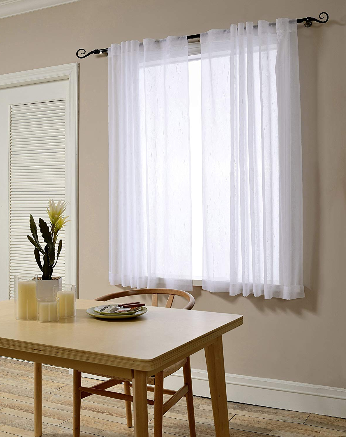Favorite Sheer Curtain Panels Discounted Sale – Recipes With More With Emily Sheer Voile Solid Single Patio Door Curtain Panels (Gallery 20 of 20)