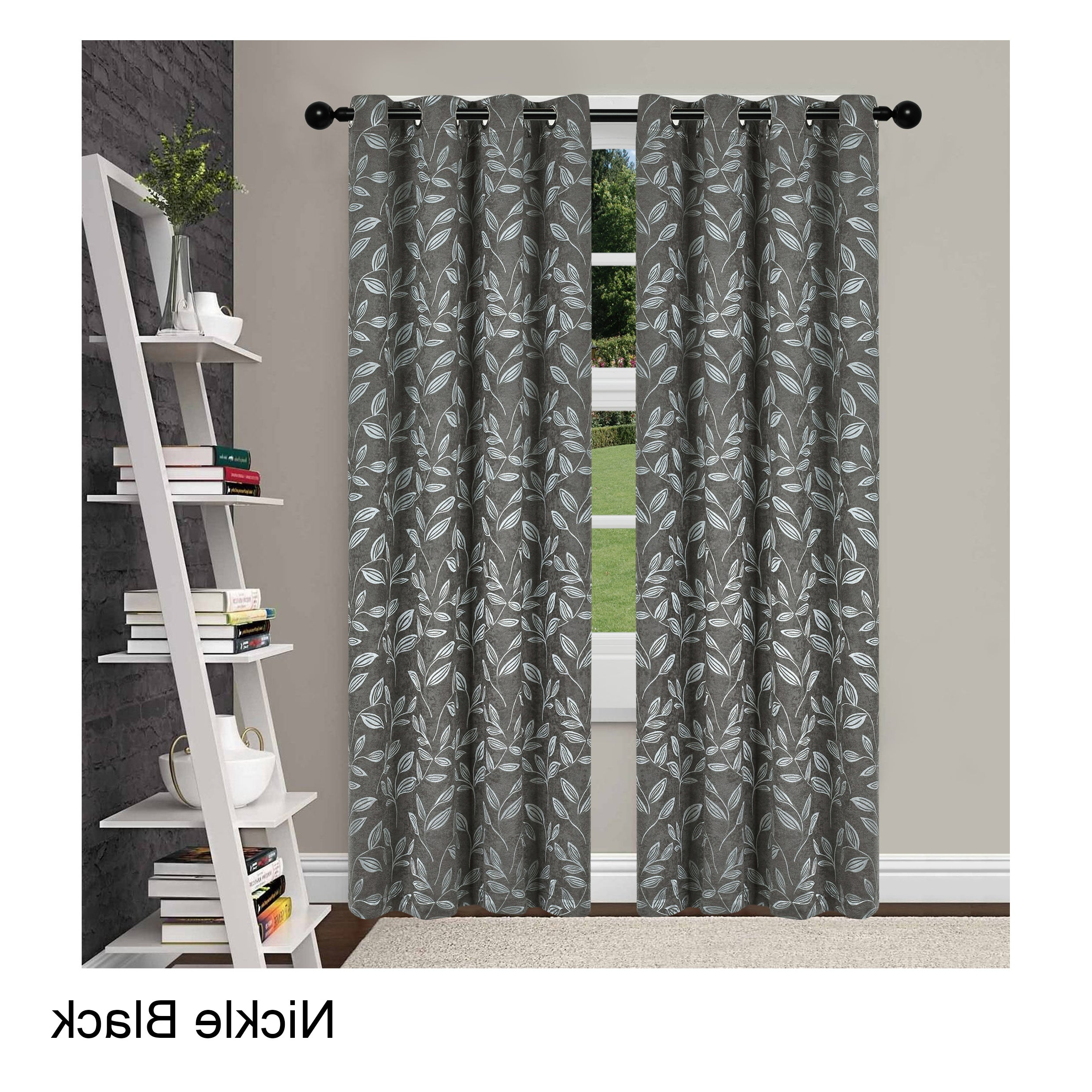 Favorite Superior Leaves Insulated Thermal Blackout Grommet Curtain Panel Pair – N/a For Superior Leaves Insulated Thermal Blackout Grommet Curtain Panel Pairs (View 4 of 20)