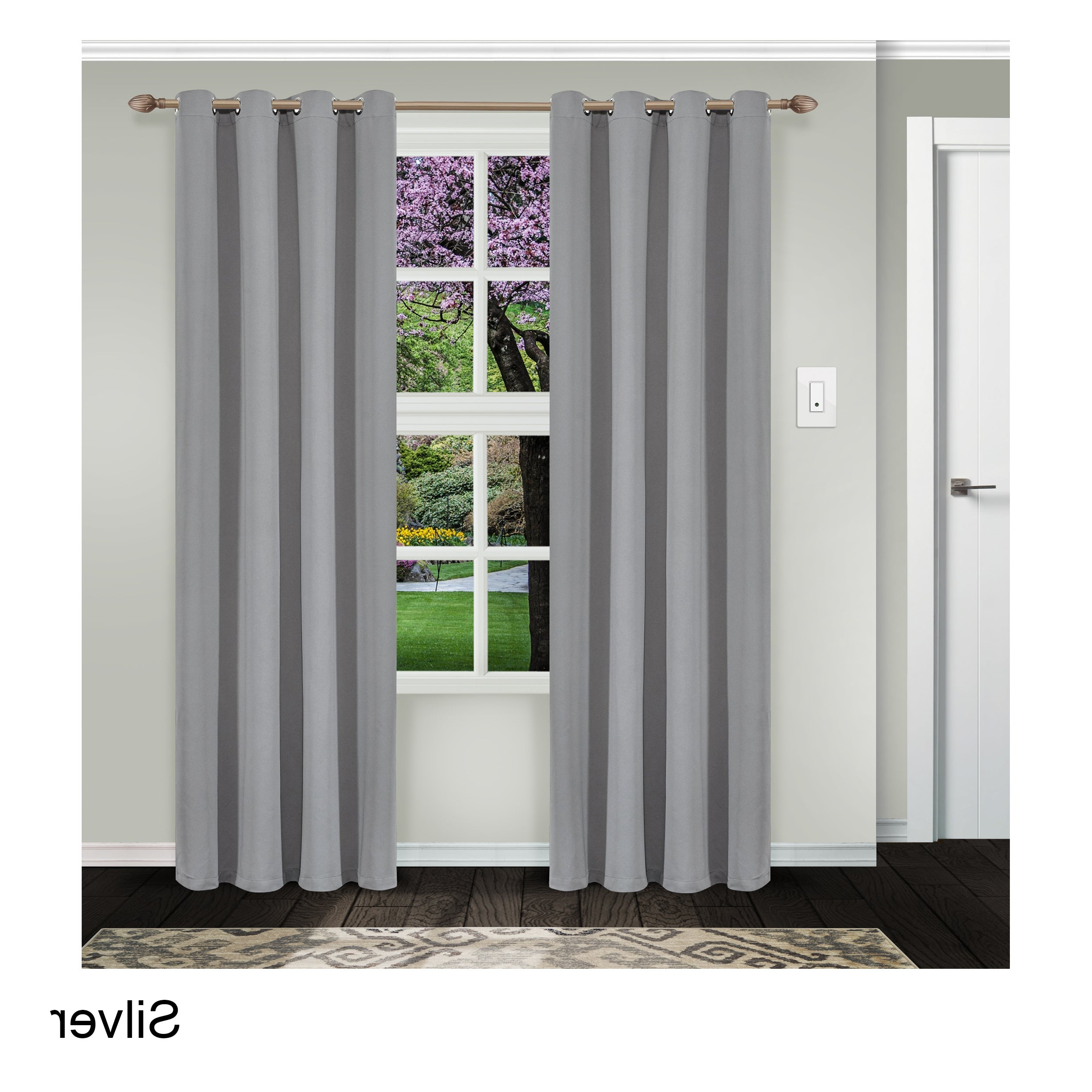 Favorite Superior Solid Insulated Thermal Blackout Grommet Curtain Panel Pairs With Regard To Superior Solid Insulated Thermal Blackout Grommet Curtain Panel Pair (Gallery 3 of 20)