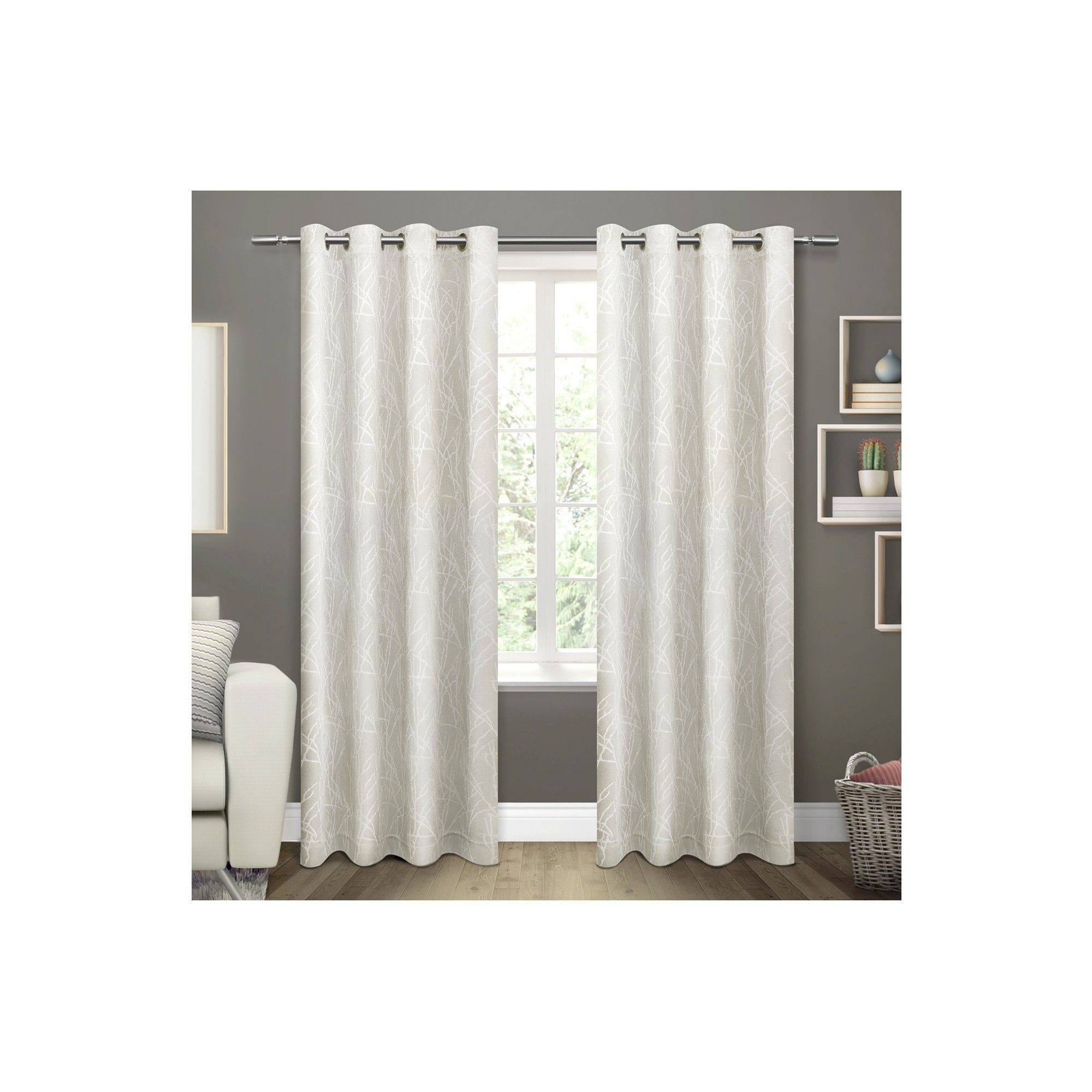 Favorite Twig Insulated Blackout Curtain Panel Pairs With Grommet Top Intended For Twig Insulated Woven Blackout Grommet Top Window Curtain (View 7 of 20)