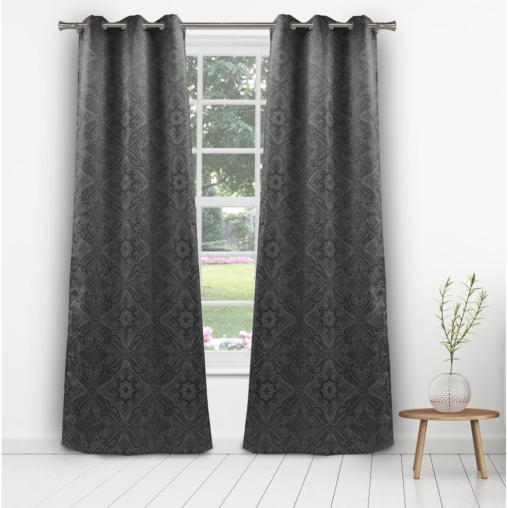 Flisol Home For Trendy Star Punch Tulle Overlay Blackout Curtain Panel Pairs (View 17 of 20)