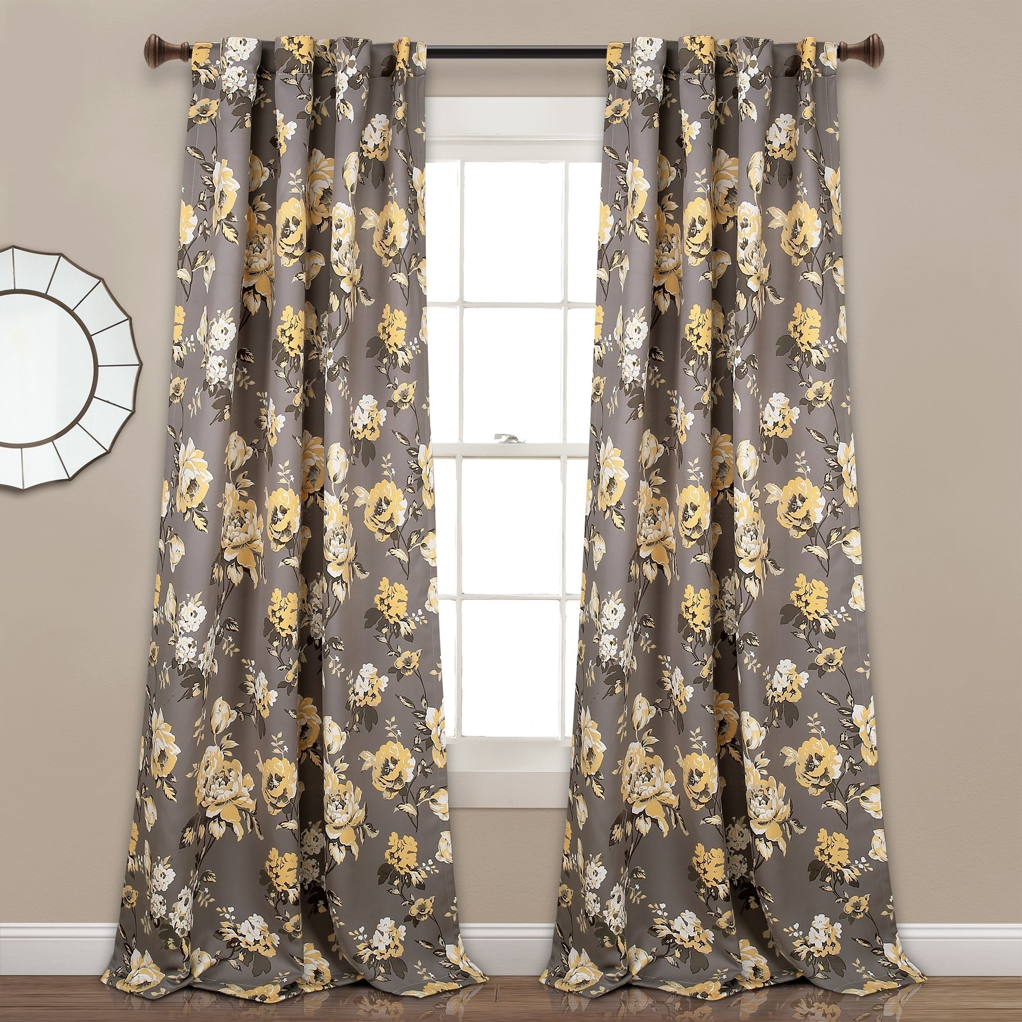 Floral Pattern Room Darkening Window Curtain Panel Pairs For Most Up To Date Lush Decor Tania Floral Room Darkening Window Curtain Panel Pair (View 12 of 20)
