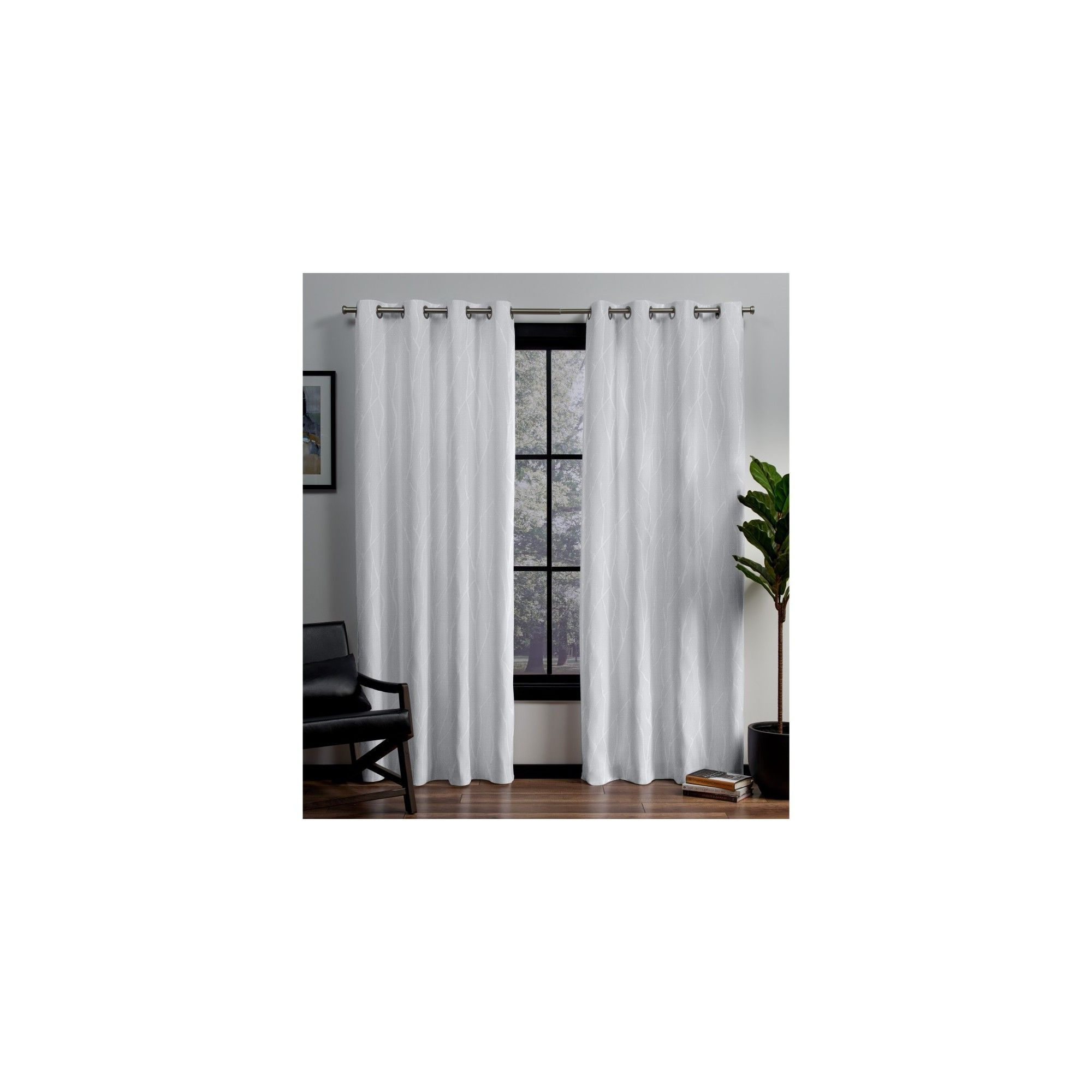 "Forest Hill Woven Blackout Grommet Top Curtain Panel Pairs For Most Current 52""x84"" Forest Hill Woven Blackout Grommet Top Window (View 5 of 20)"