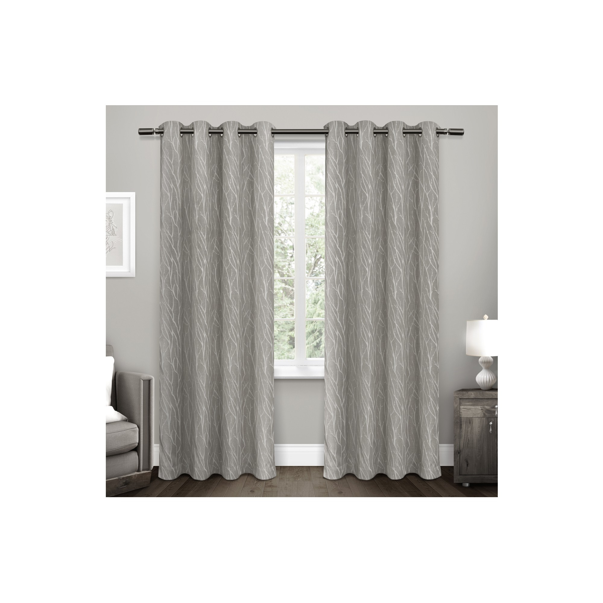 Forest Hill Woven Blackout Grommet Top Curtain Panel Pairs In Most Up To Date Forest Hill Woven Room Darkening Grommet Top Window Curtain (View 6 of 20)
