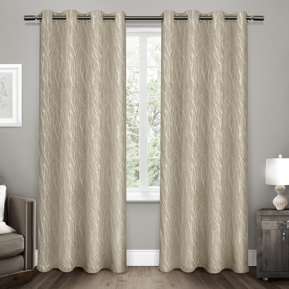Forest Hill Woven Blackout Grommet Top Curtain Panel Pairs Regarding Well Known Forest Hill 52 In. W X 108 In (View 4 of 20)