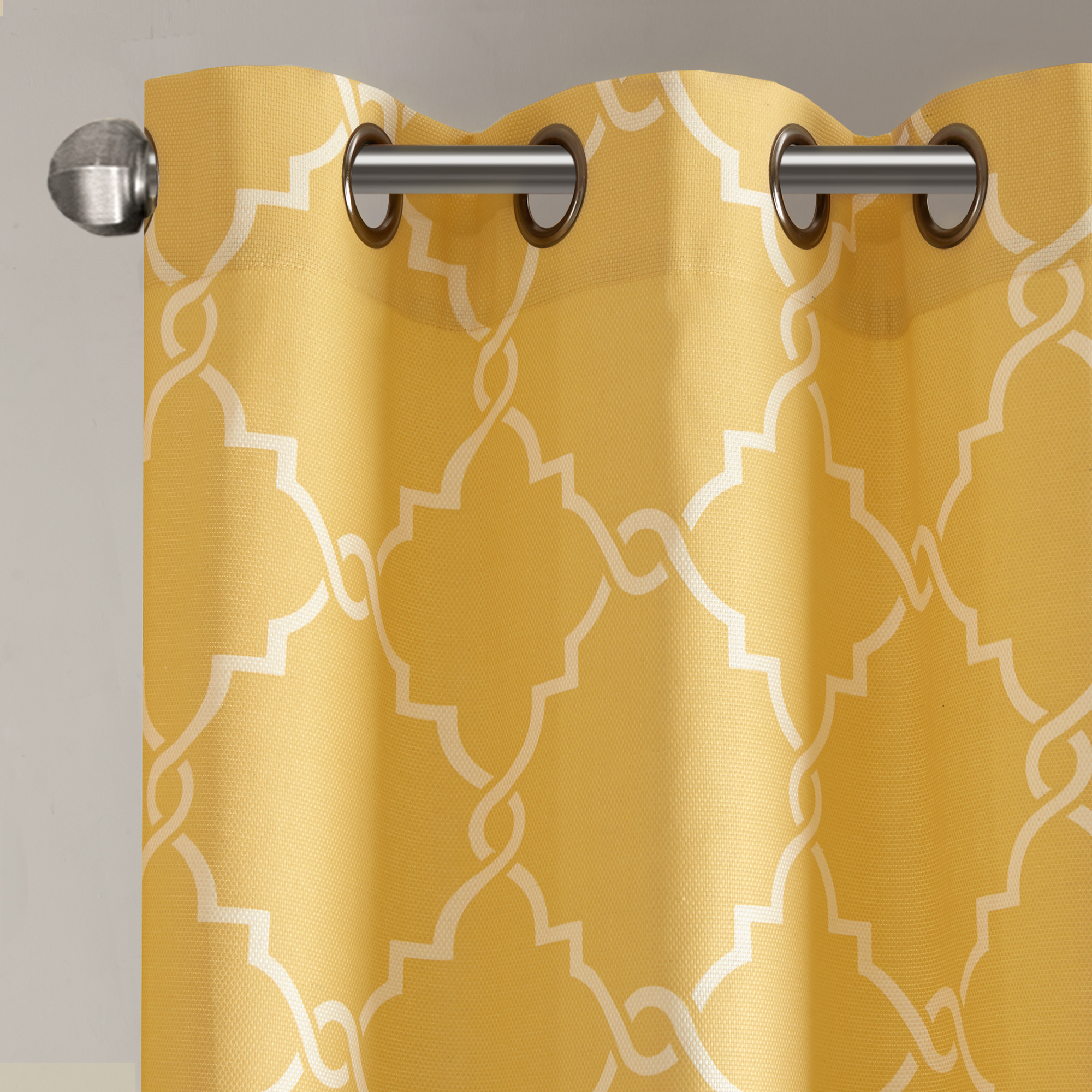 Fretwork Print Pattern Single Curtain Panels In 2020 Home Essence Sereno Fretwork Print Patio Window Panel (View 3 of 20)