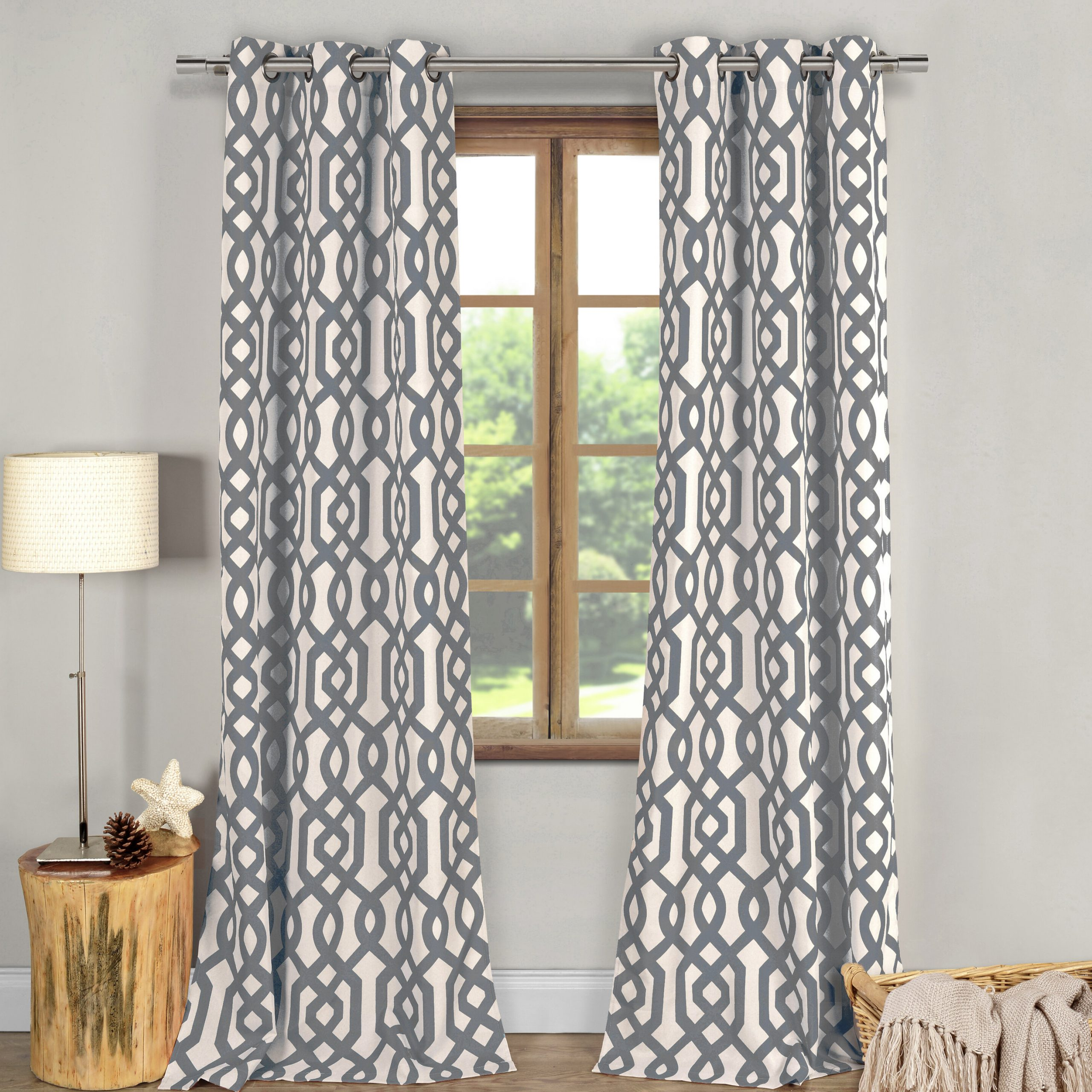 Fretwork Print Pattern Single Curtain Panels With Regard To Well Known Fretwork Geometric Blackout Grommet Curtain Panels (Gallery 8 of 20)