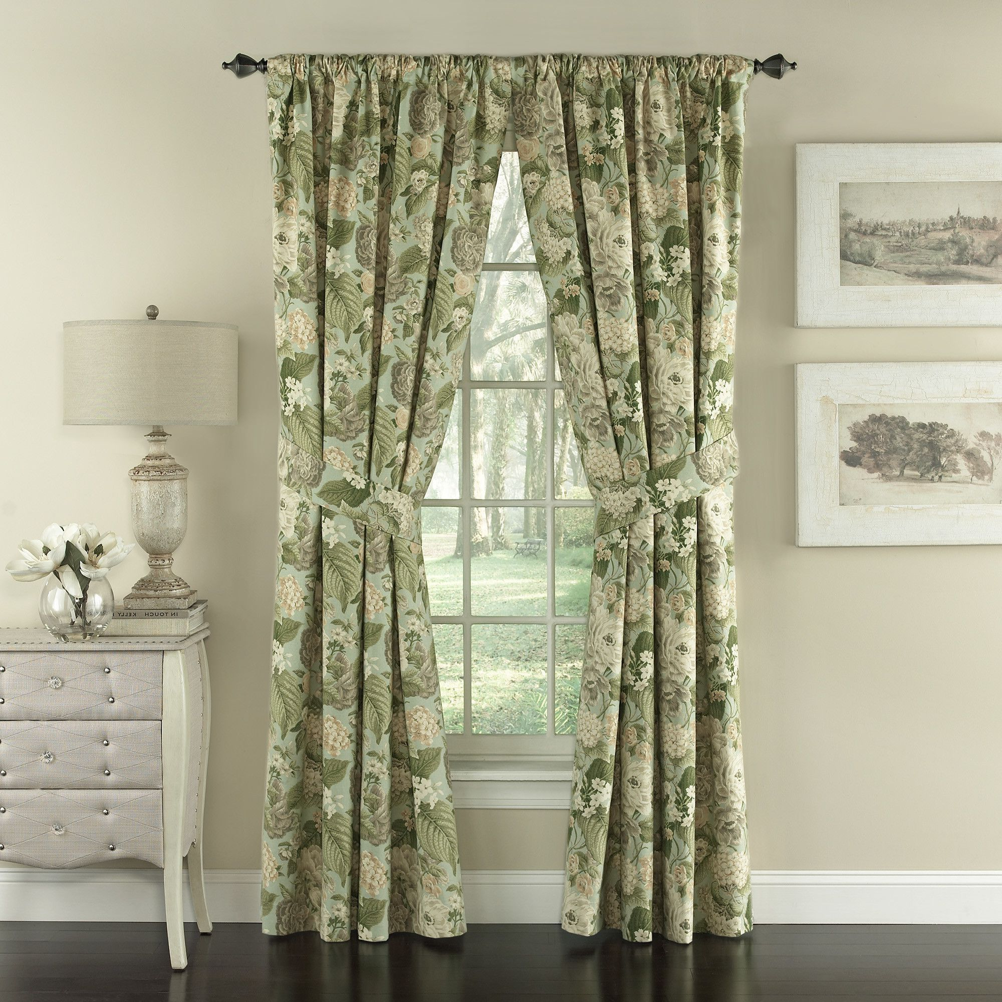 Garden Glory Nature/floral Semi Sheer Rod Pocket Curtain Inside Most Current Andorra Watercolor Floral Textured Sheer Single Curtain Panels (View 9 of 20)