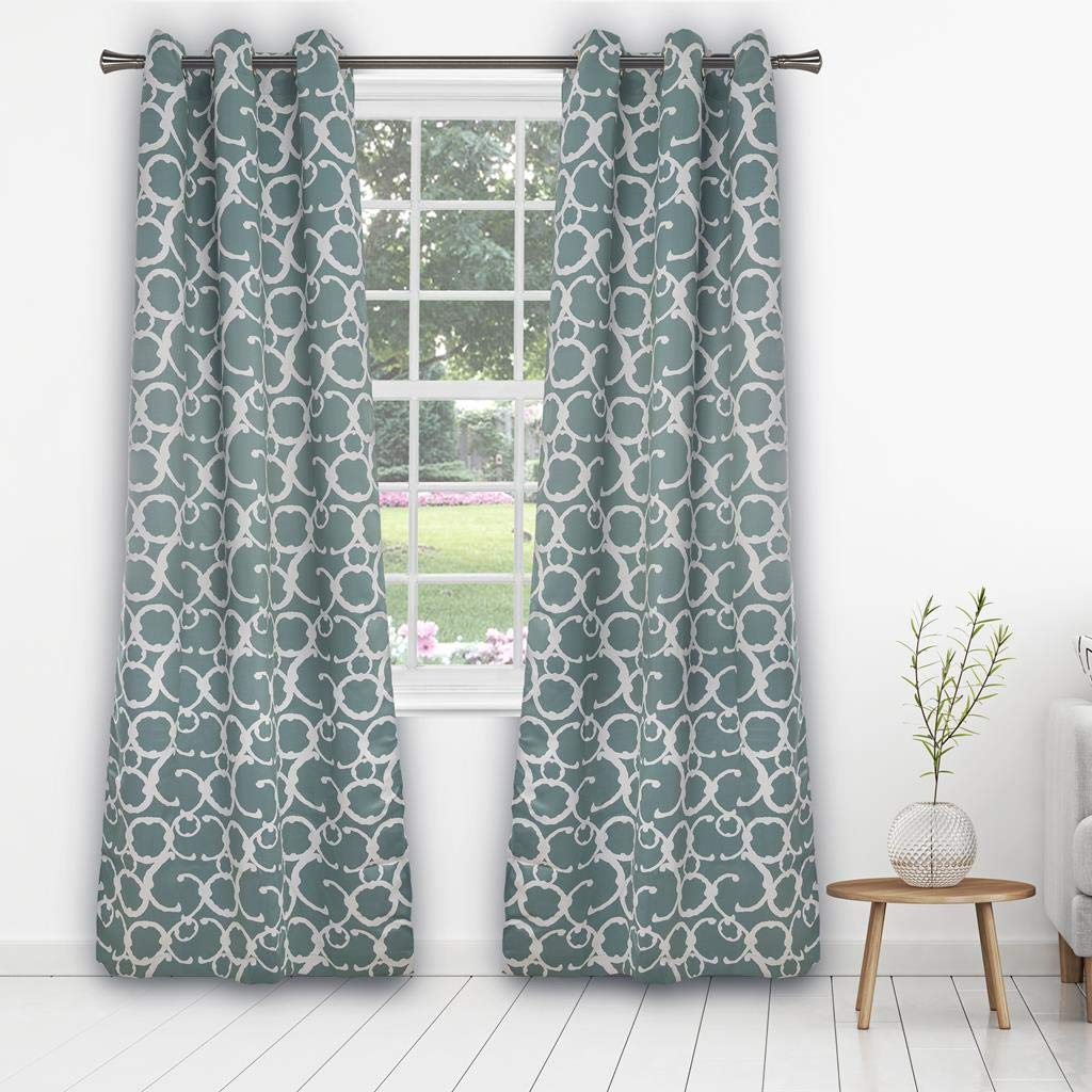 Geometric Linen Room Darkening Window Curtains Intended For Well Known Amazon: Duck River Textiles – Geometric Linen Textured (View 16 of 20)