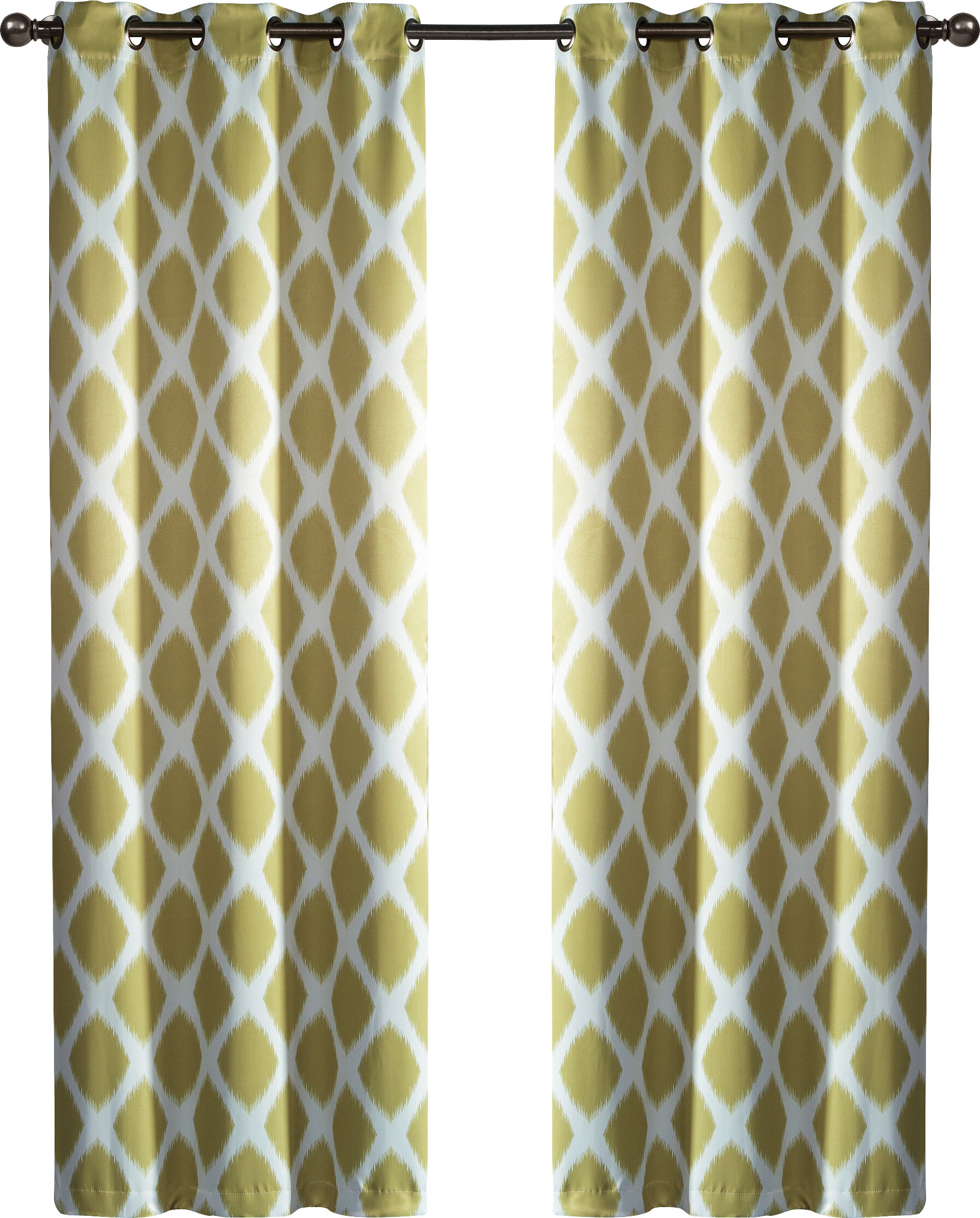 Geometric Print Textured Thermal Insulated Grommet Curtain Panels Intended For Famous Coley Geometric Room Darkening Thermal Grommet Curtain Panels (View 20 of 20)