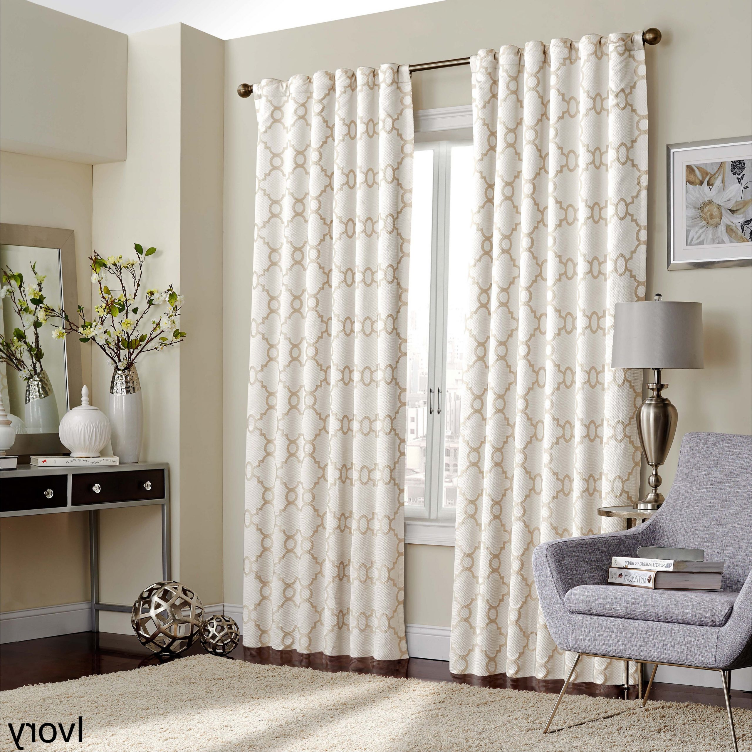 Gracewood Hollow Tucakovic Energy Efficient Fabric Blackout Curtains Pertaining To Fashionable Eclipse Correll Thermalayer Blackout Window Curtain Panel (View 3 of 20)