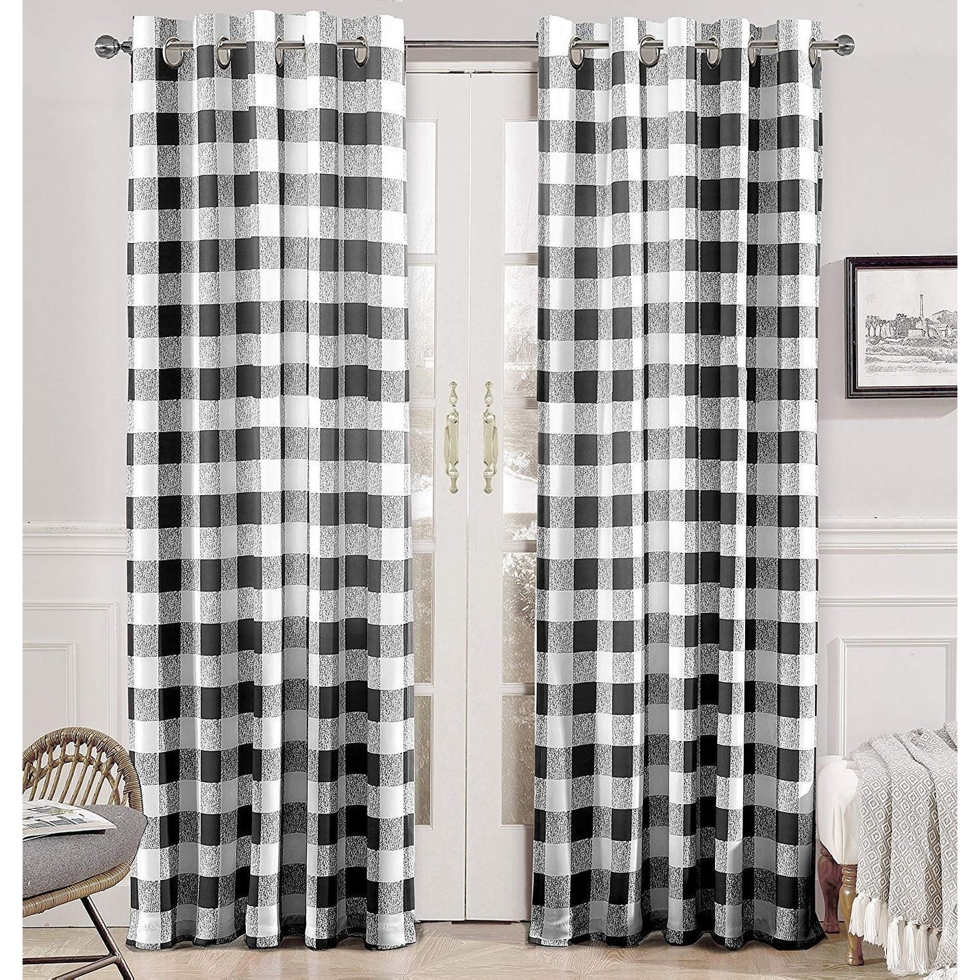 Grainger Buffalo Check Blackout Window Curtains In Most Up To Date Porch & Den Alfalfa Plaid Pattern Room Darkening Window Curtains (View 5 of 20)