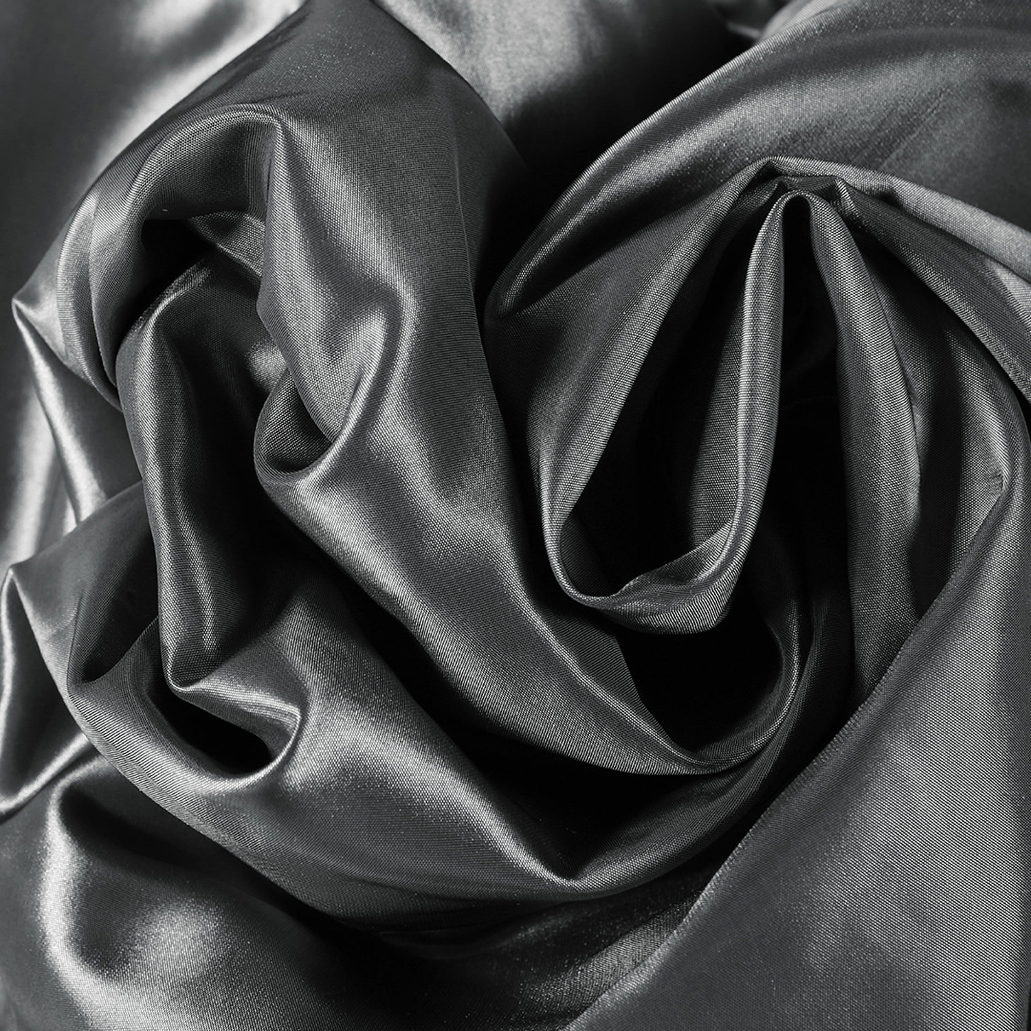 Graphite Faux Silk Taffeta Fabric – Waterford Stripe Curtain Within Most Recently Released Solid Faux Silk Taffeta Graphite Single Curtain Panels (View 12 of 20)