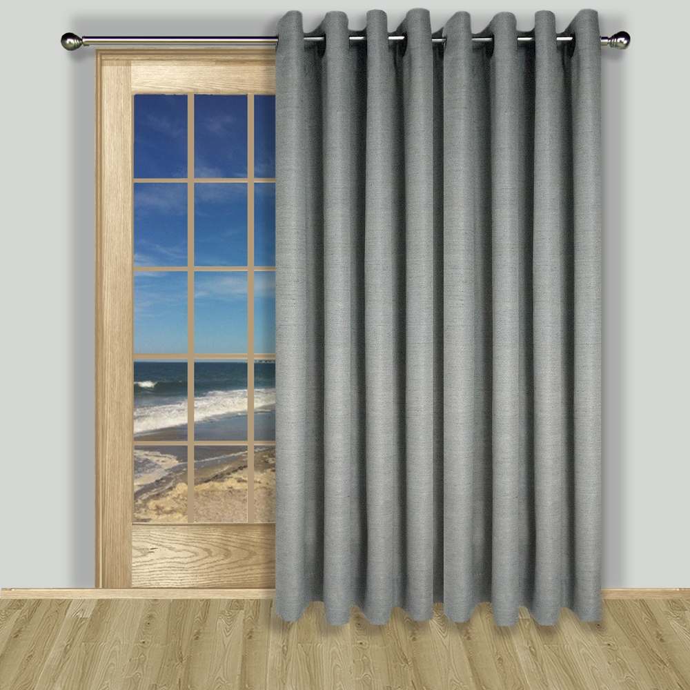 Grasscloth Lined Grommet Patio Panel With Regard To Most Recently Released Patio Grommet Top Single Curtain Panels (View 14 of 20)