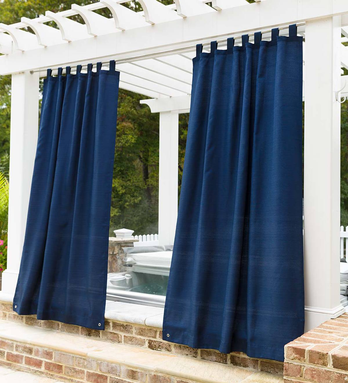Grasscloth Outdoor Curtain Panel With Grommet Top Throughout Well Liked Patio Grommet Top Single Curtain Panels (View 15 of 20)