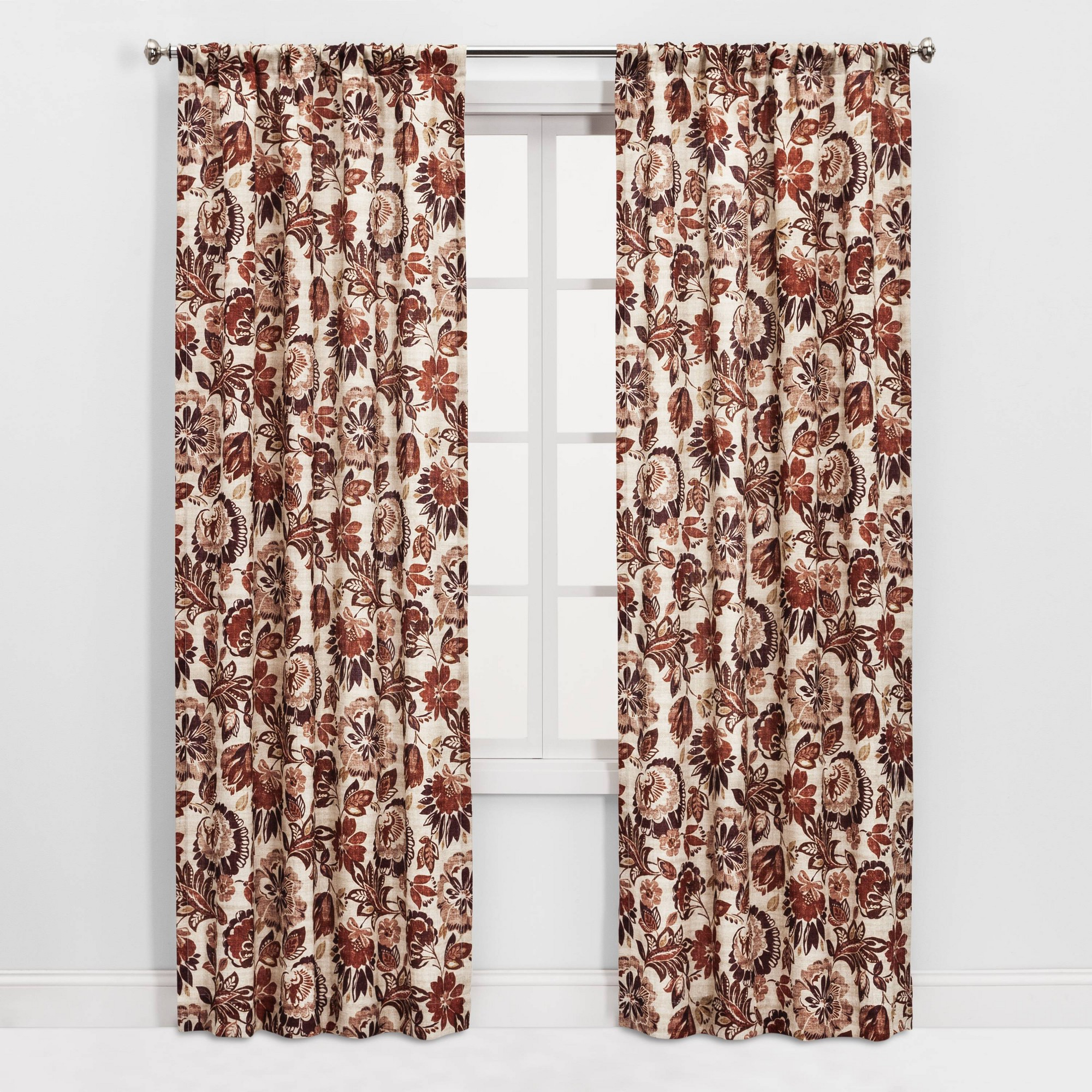 """Gray Barn Dogwood Floral Curtain Panel Pairs Inside Most Recently Released 84""""x40"""" 2pc Jacobean Floral Light Filtering Curtain Panel (View 16 of 20)"""