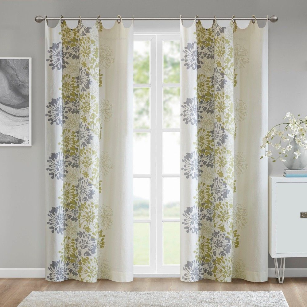"""Gray Barn Dogwood Floral Curtain Panel Pairs Pertaining To Most Recent Ally Floral Printed Curtain Panel Purple/white 50""""x (View 14 of 20)"""