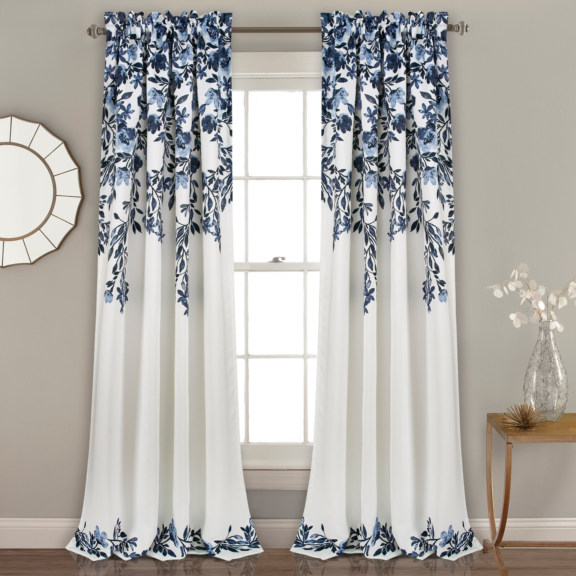 Gray Barn Dogwood Floral Curtain Panel Pairs Pertaining To Most Up To Date Porch & Den Elcaro Floral Pattern Room Darkening Window Curtain Panel Pair (View 11 of 20)