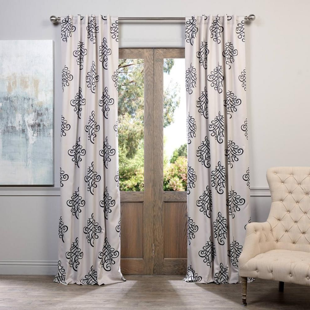 Gray Barn Dogwood Floral Curtain Panel Pairs Regarding Most Recently Released Exclusive Fabrics & Furnishings Semi Opaque Tugra Blackout (View 15 of 20)