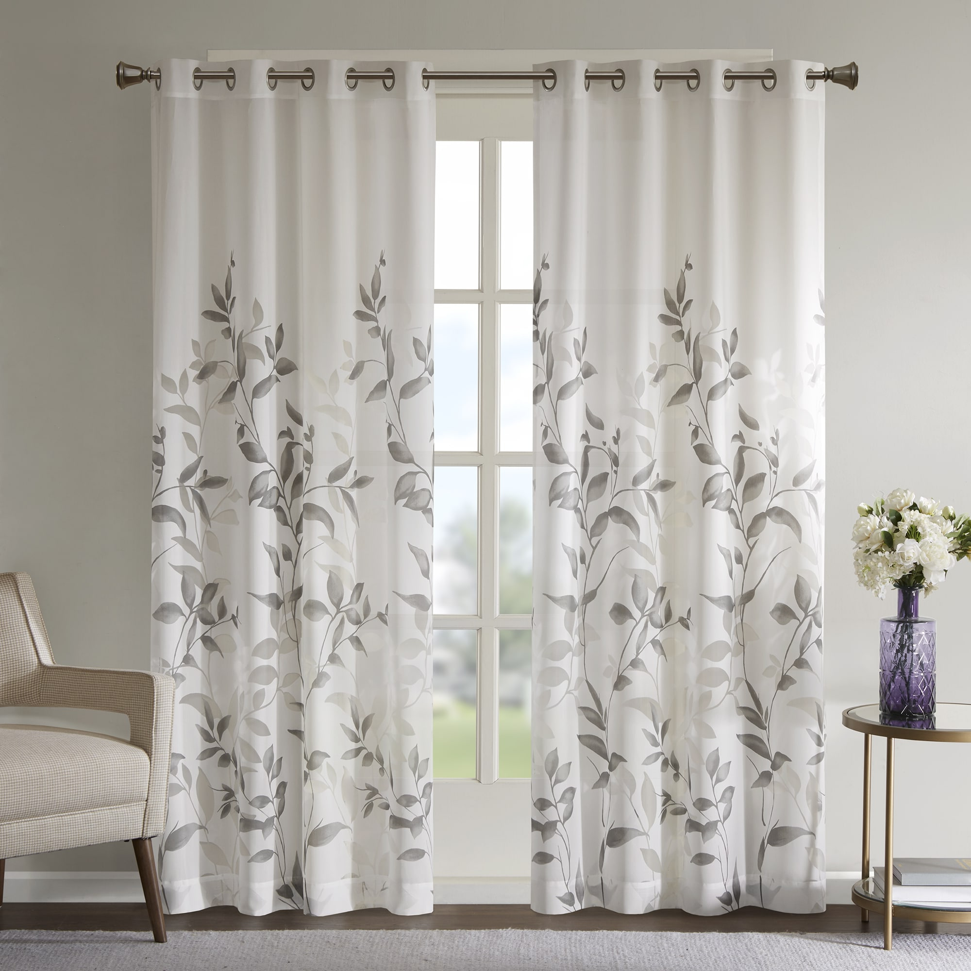 Grey Printed Curtain Panels Inside Popular The Gray Barn Yturria Grey Printed Curtain Panel (View 3 of 20)