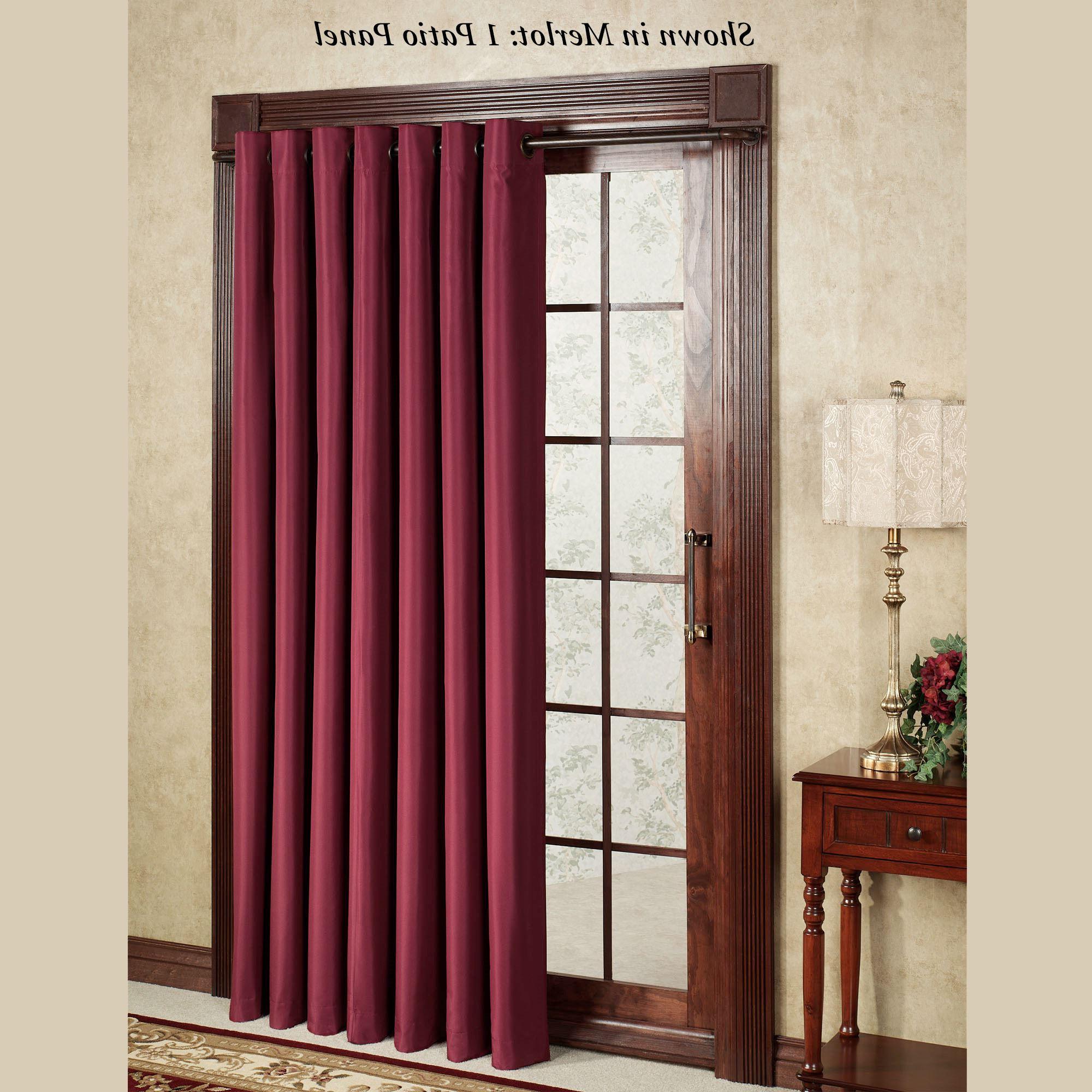 Grommet Blackout Patio Door Window Curtain Panels For Popular Thermal Elegance Grommet Patio Panel (View 20 of 20)
