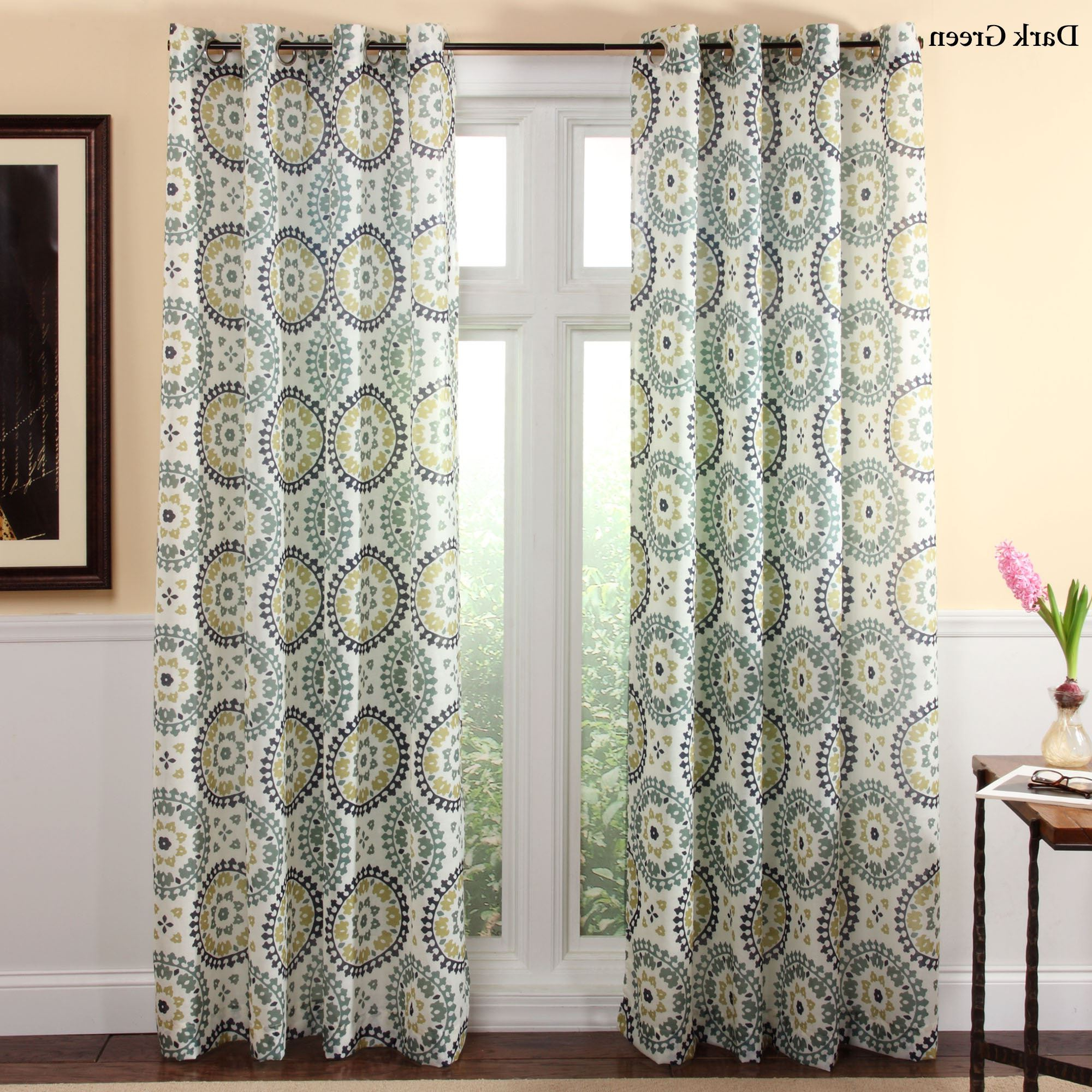 Grommet Curtain Panels In Well Known Melina Medallion Grommet Curtain Panels (View 18 of 20)