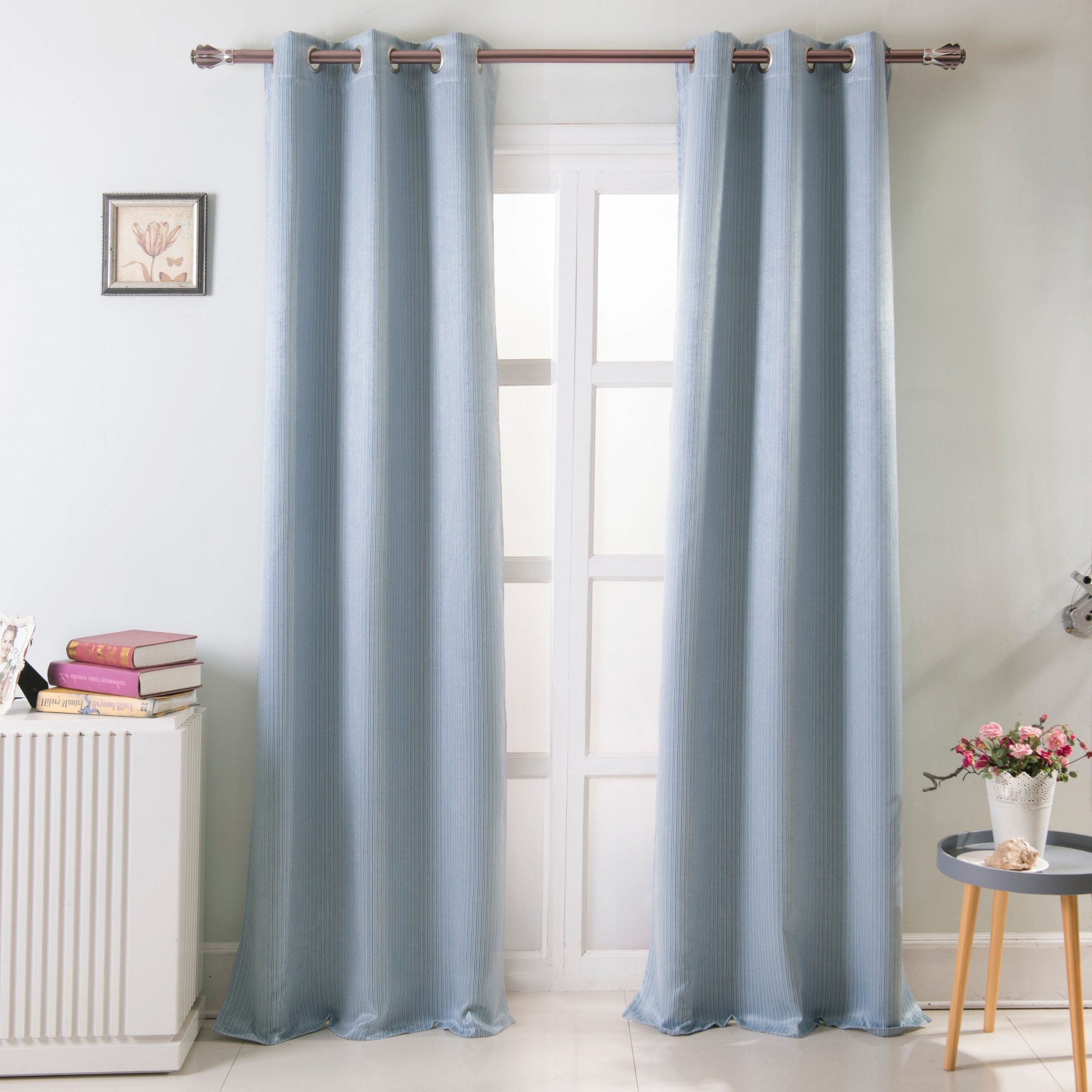Grommet Curtain Panels With Regard To Well Liked Kane Blackout 72 X 84 In. Grommet Curtain Panel Pair (set Of 2) – 36 In. W X 84 In (View 8 of 20)