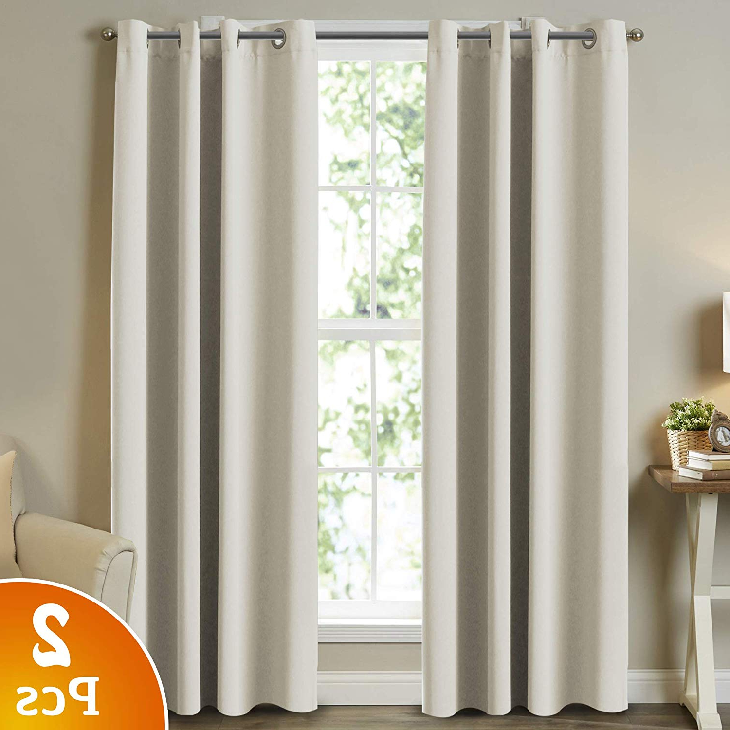 Grommet Room Darkening Curtain Panels For Most Current Turquoize Room Darkening Curtain Panels For Living Room Thermal Insulated Solid Grommet Room Darkening Window Curtains For Bedroom (2 Panels, W52 X (View 13 of 20)