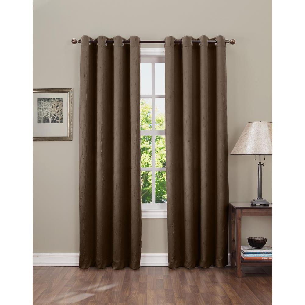 Grommet Room Darkening Curtain Panels In Preferred Sun Zero Semi Opaque Gregory 63 In (View 7 of 20)