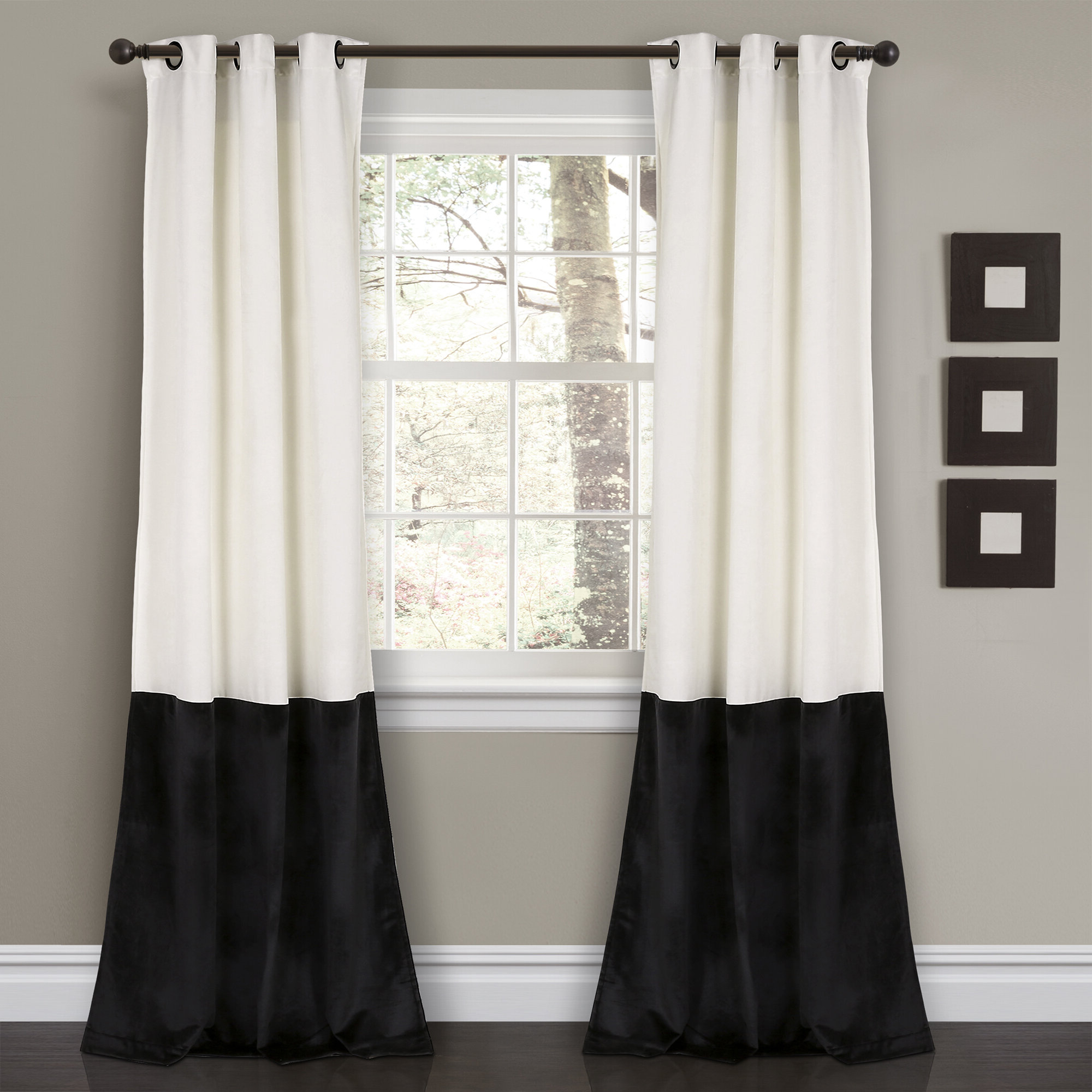 Grommet Room Darkening Curtain Panels Intended For Fashionable Lucille Floral Solid Color Room Darkening Thermal Grommet Curtain Panels (View 20 of 20)