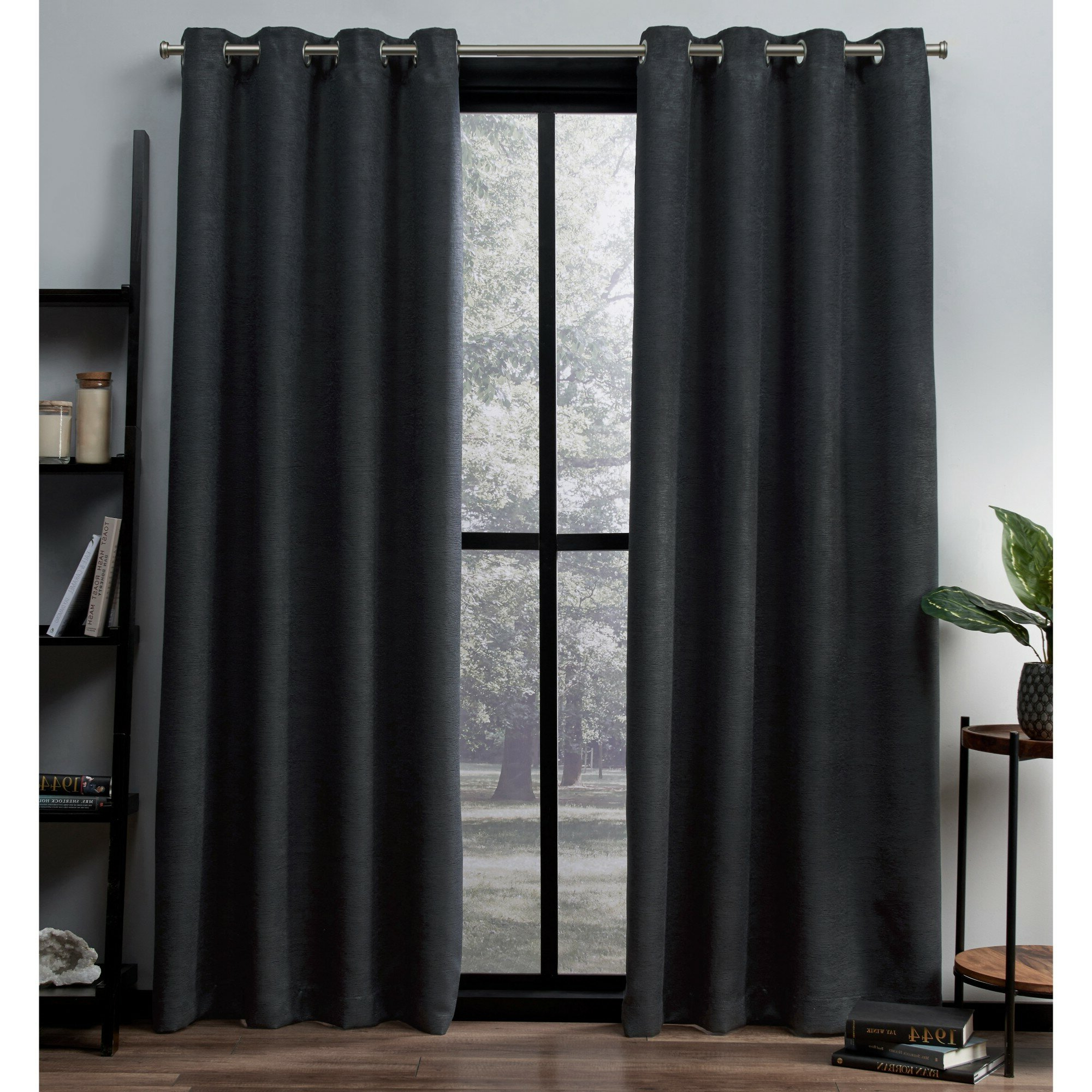 Grommet Room Darkening Curtain Panels With Most Recently Released Meadow Solid Color Room Darkening Thermal Grommet Curtain Panels (View 9 of 20)