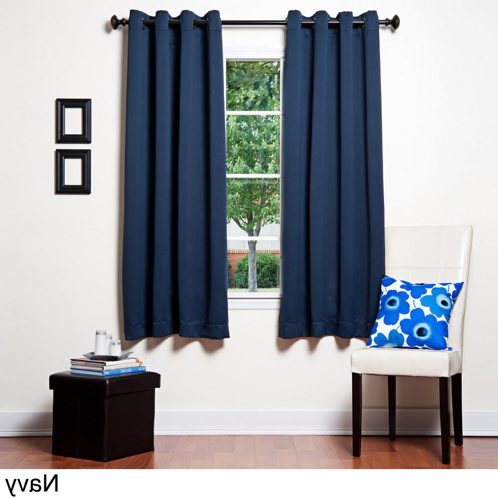 Grommet Top 64 Inch Thermal Insulated Blackout Curtain Panel With Most Recent Silvertone Grommet Thermal Insulated Blackout Curtain Panel Pairs (View 19 of 20)