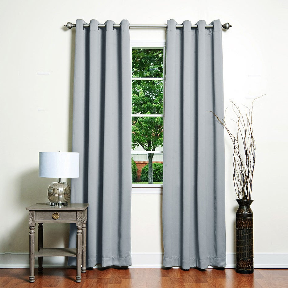 Grommet Top Thermal Insulated Blackout Curtain Panel Pairs Intended For Latest Aurora Home Grommet Top Thermal Insulated 96 Inch Blackout Curtain Panel Pair – 52 X (View 18 of 20)